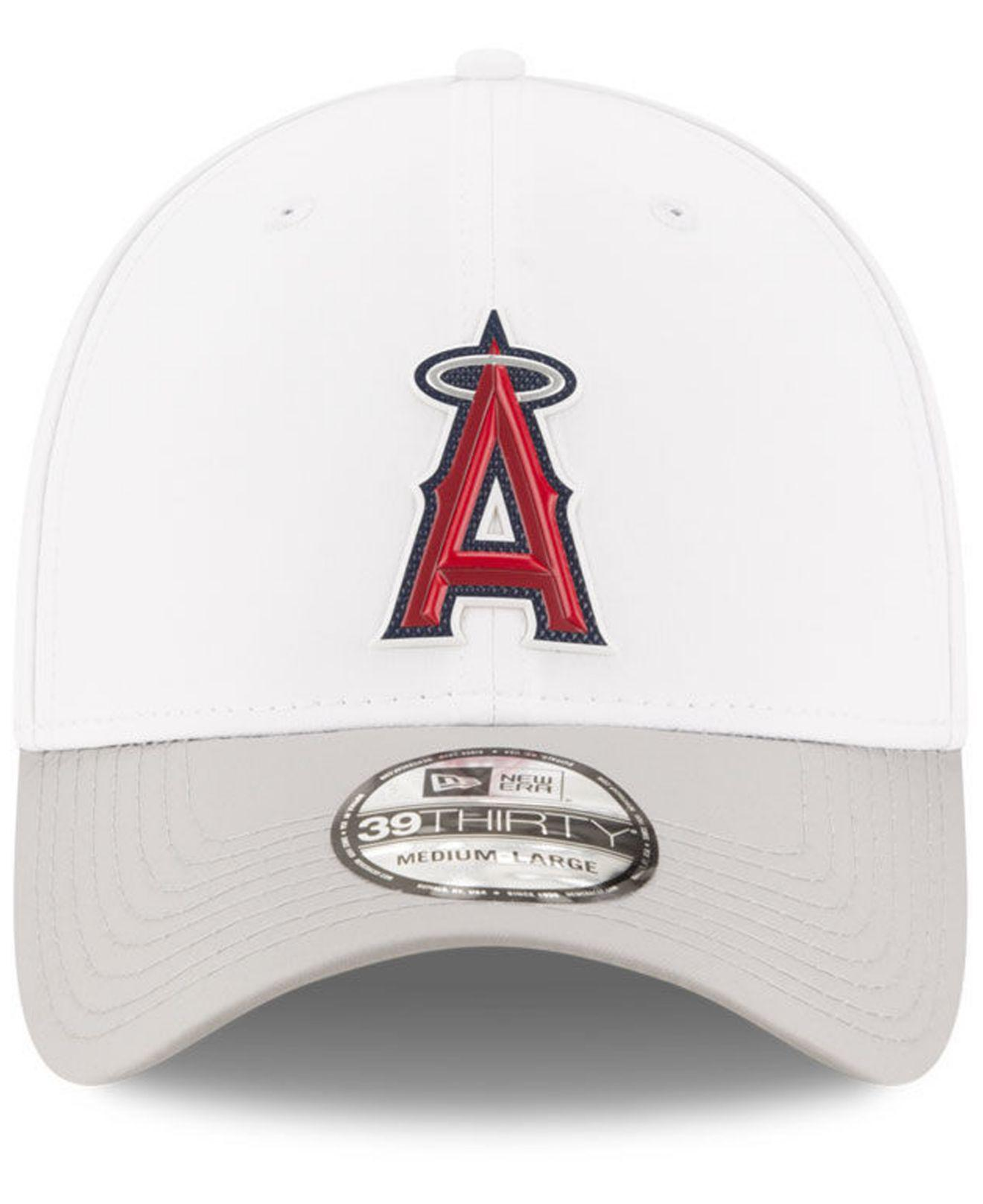 new style e17ef 6a844 ... coupon code for lyst ktz los angeles angels white batting practice  39thirty cap in white for