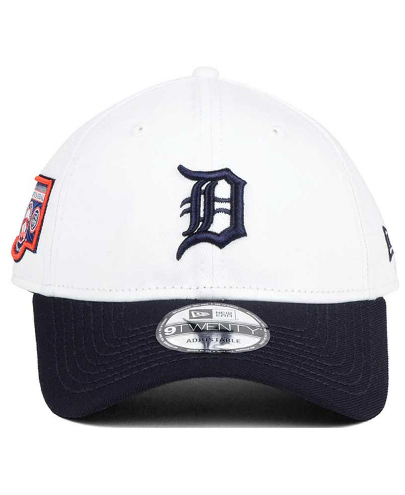 low priced 367b4 7bd25 ... cheap lyst ktz detroit tigers coop banner patch 9twenty strapback cap  in blue for men 318e5