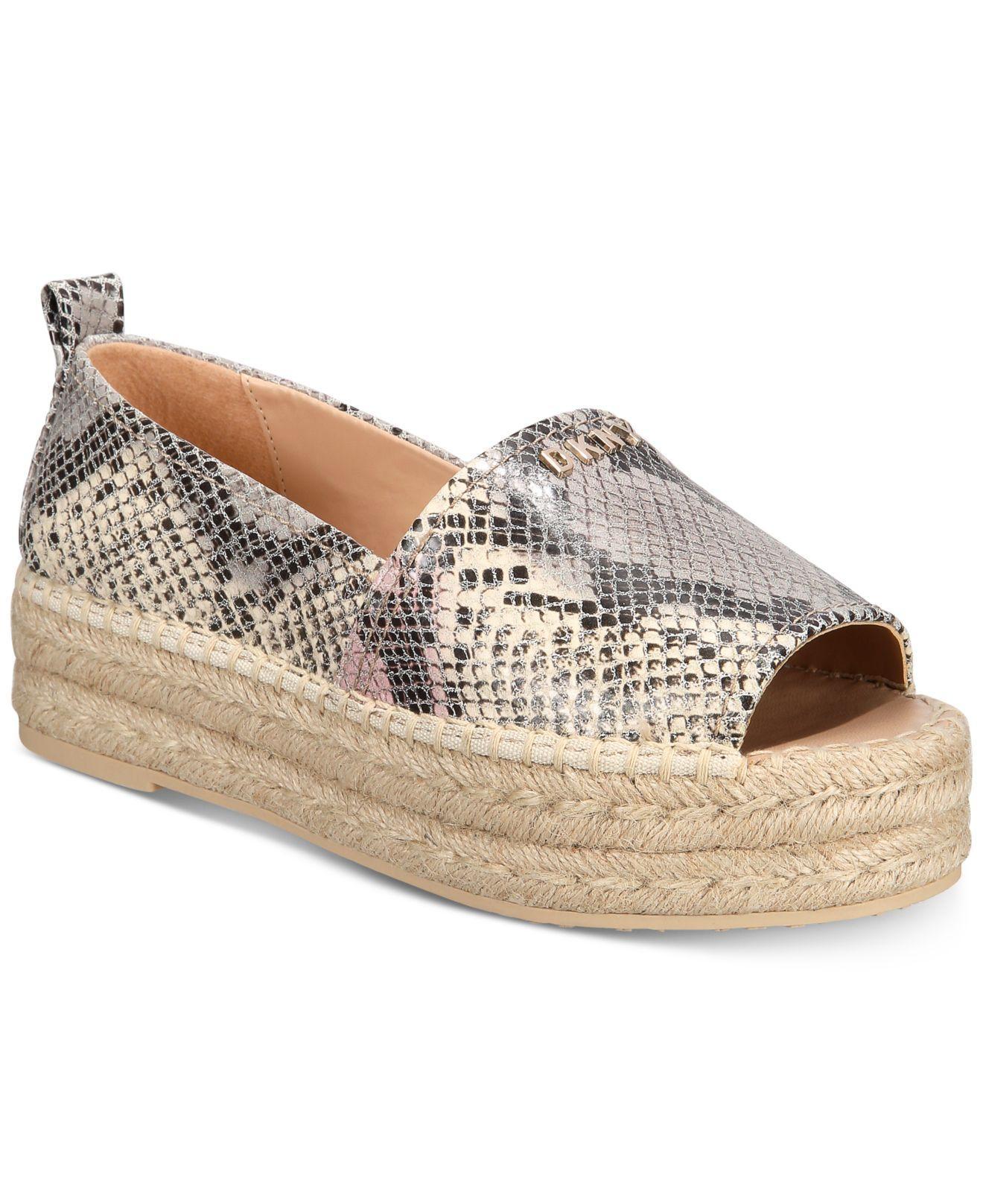 4ca506f5e03 Lyst - DKNY Mer Peep-toe Espadrille Sandals