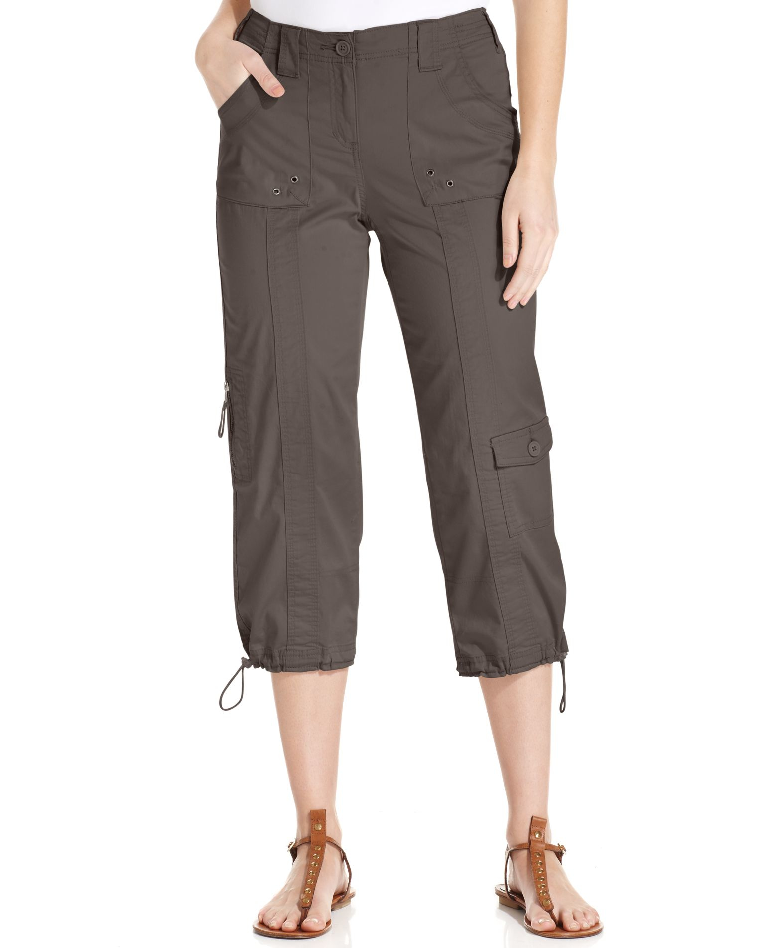 Popular BLUE POINTE JEANS Juniors Womens Stretch Premium BROWN Cargo Pants 3054ES At Amazon Womenu2019s ...