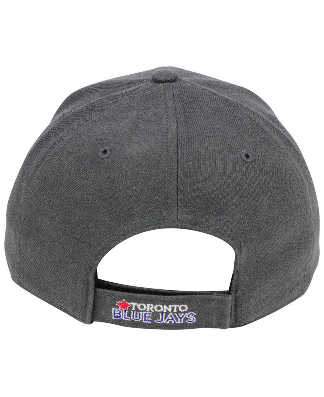 cheap for discount 84e01 32793 ... get 47 brand gray toronto blue jays charcoal mvp cap for men lyst. view  fullscreen