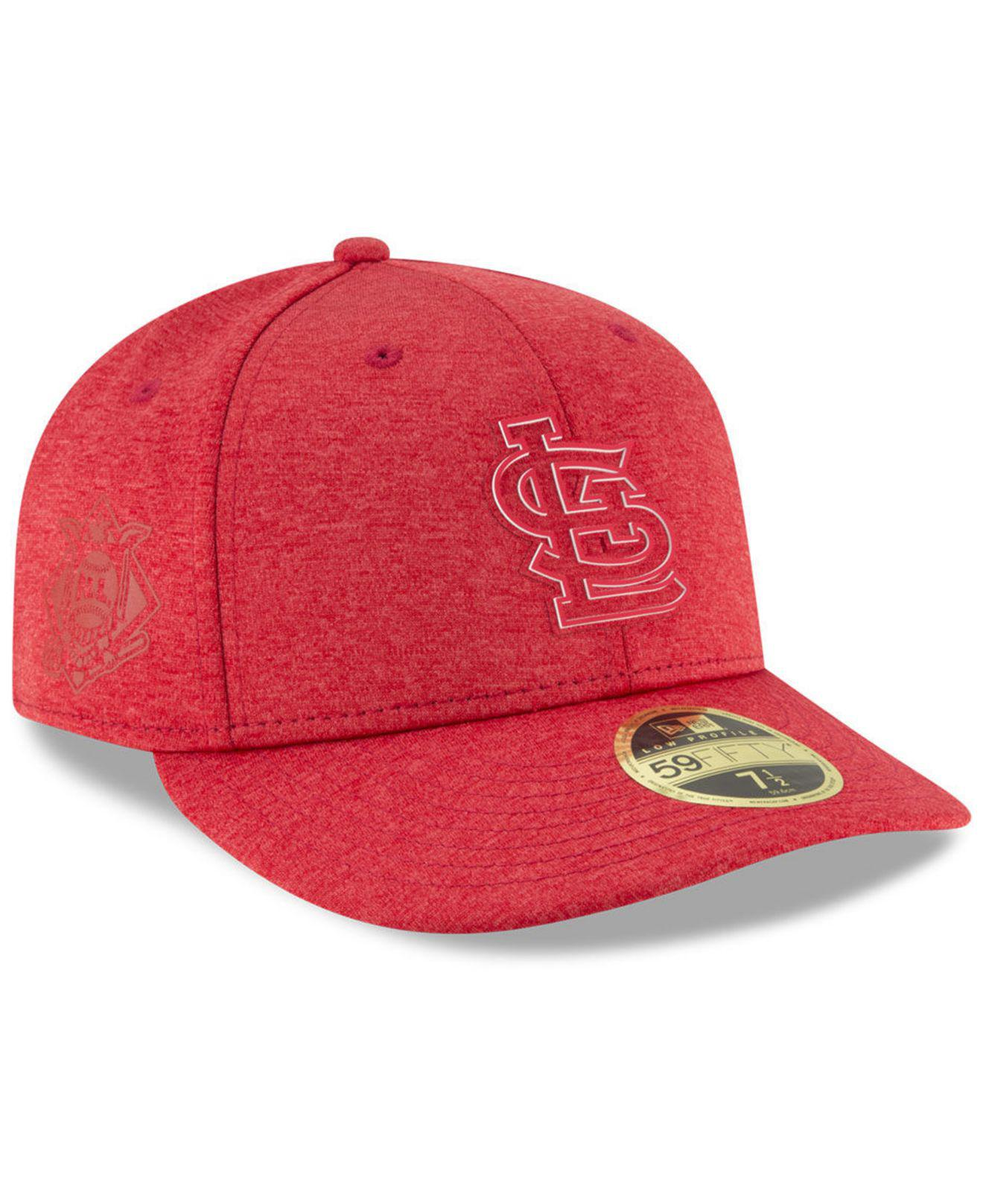 top fashion a601b 9e16a KTZ. Men s Red St. Louis Cardinals Clubhouse Low Crown 59fifty Fitted Cap