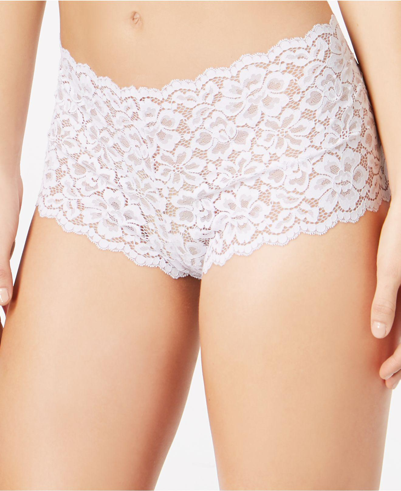 0e5a0f3d919f6 Lyst - Maidenform Casual Comfort Lace Boyshort Dmclbs in White