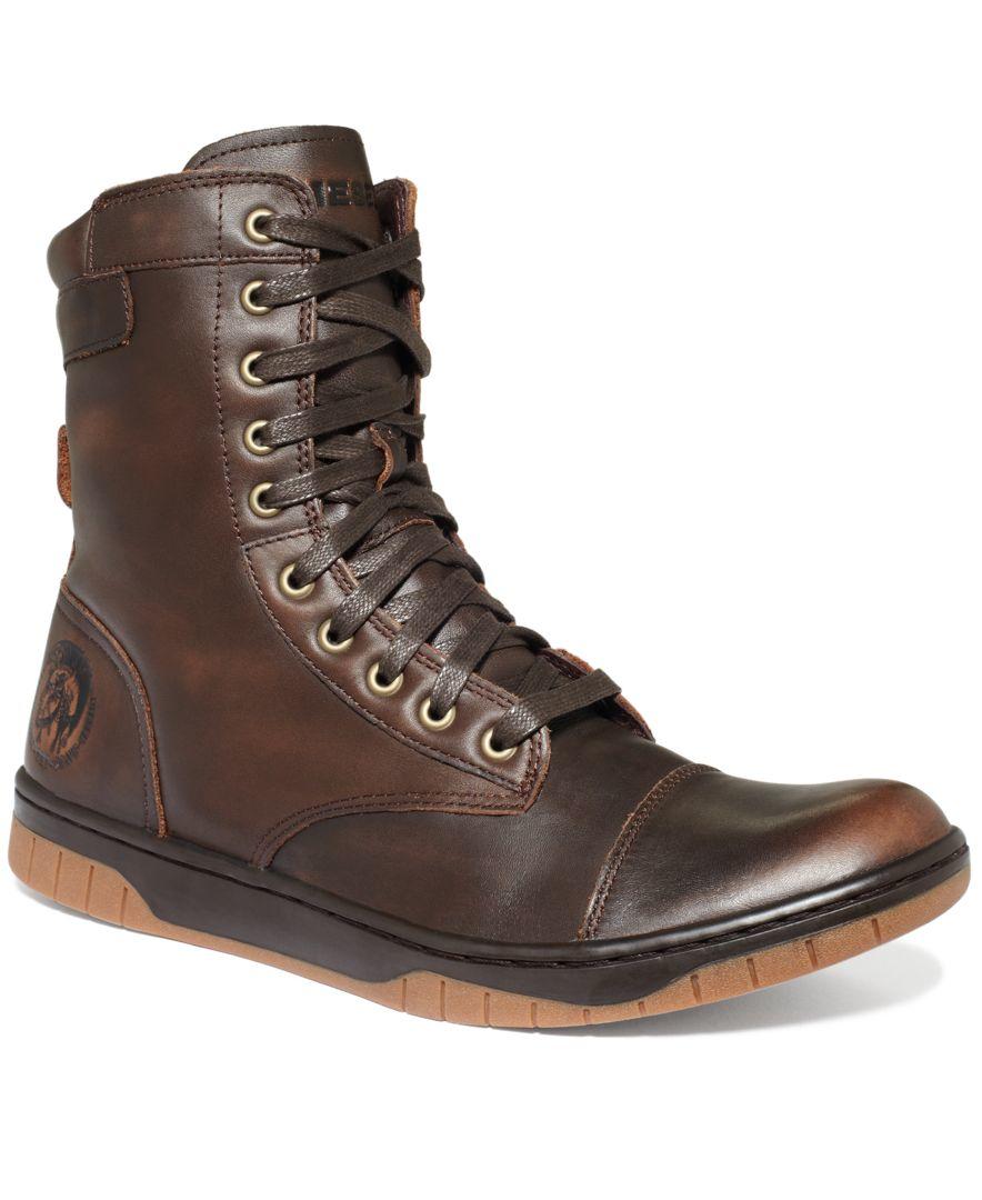 Lyst - DIESEL Tatradium Basket Butch Zip Boots in Brown ...