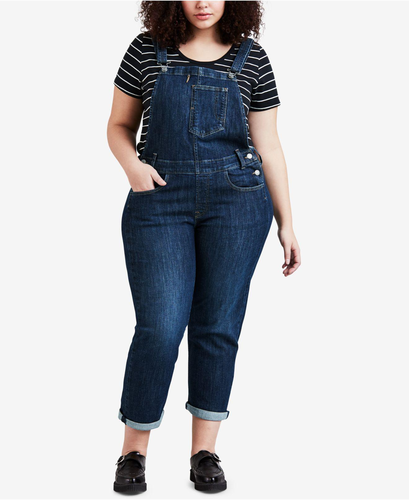 f5548a9db54 Lyst - Levi s ® Plus Size Denim Overalls in Blue
