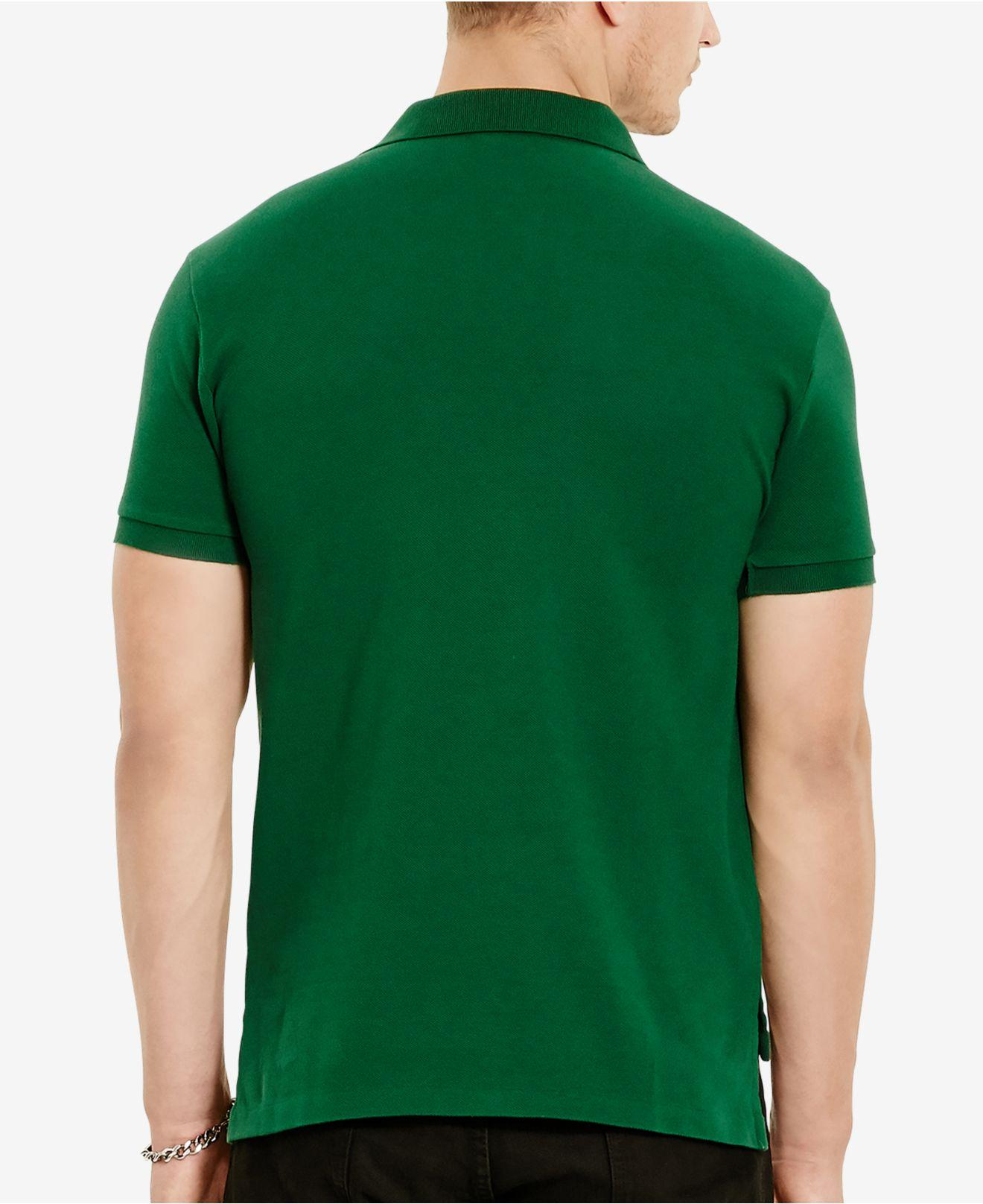 960d96e2 Lyst - Polo Ralph Lauren Classic-fit Mesh Polo in Green for Men