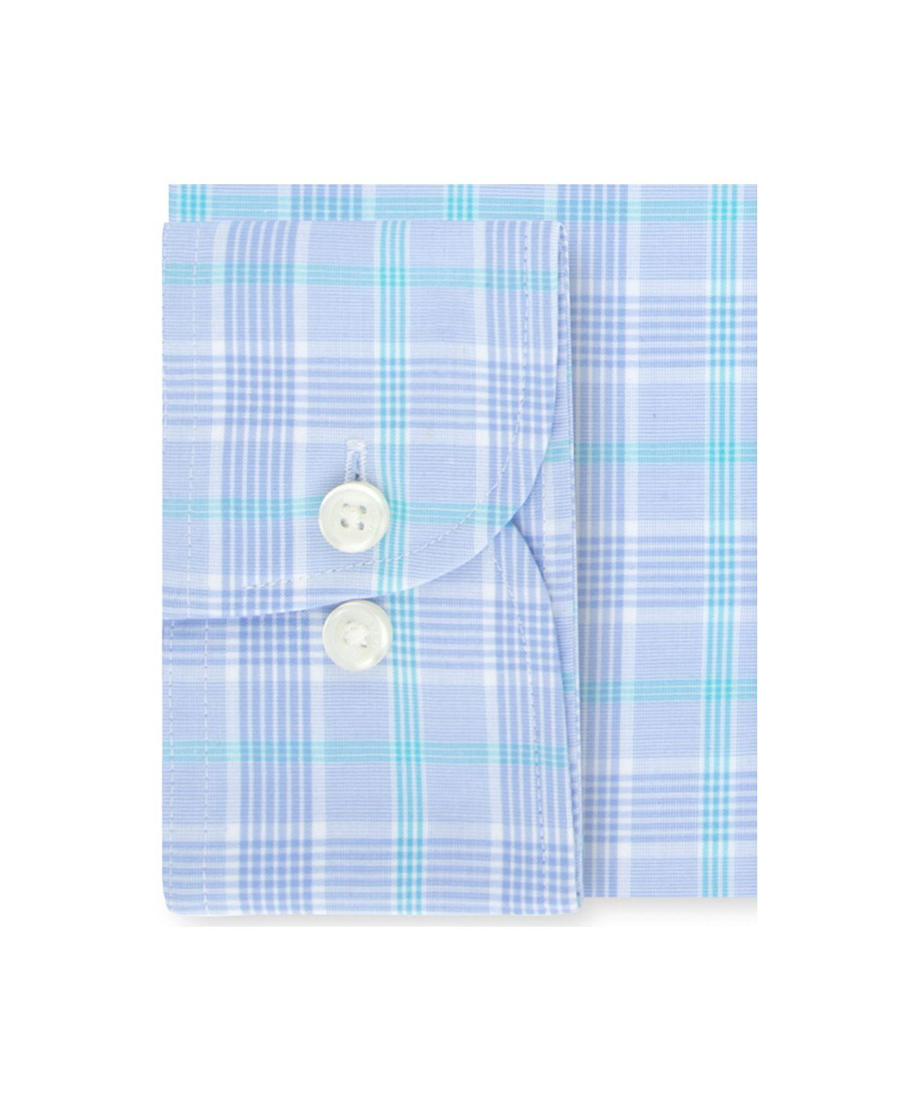 6155afcc6 Lyst - Tommy Hilfiger Classic/regular Fit Non-iron Thflex Stretch Blue  Check Dress Shirt in Blue for Men