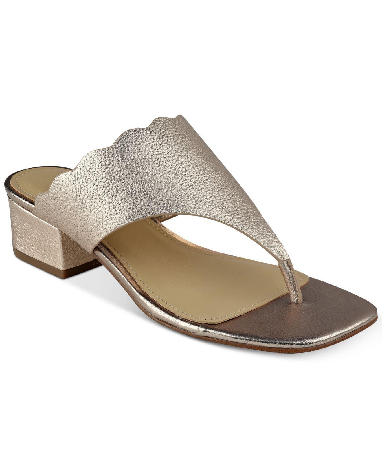 7971407ee Lyst - Marc Fisher Veva Thong Sandals in Metallic
