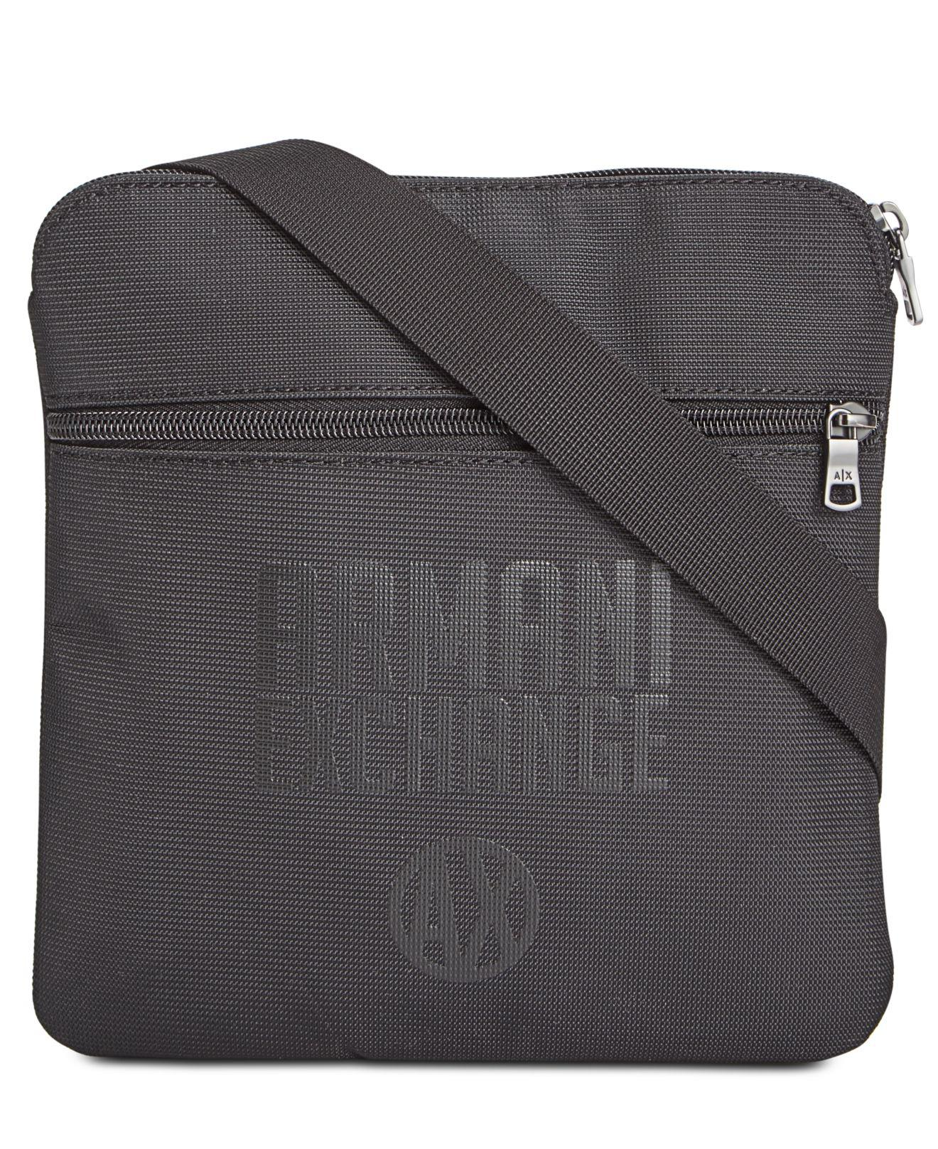 f4f326956d62 Lyst - Armani Exchange Logo Sling Bag in Black for Men