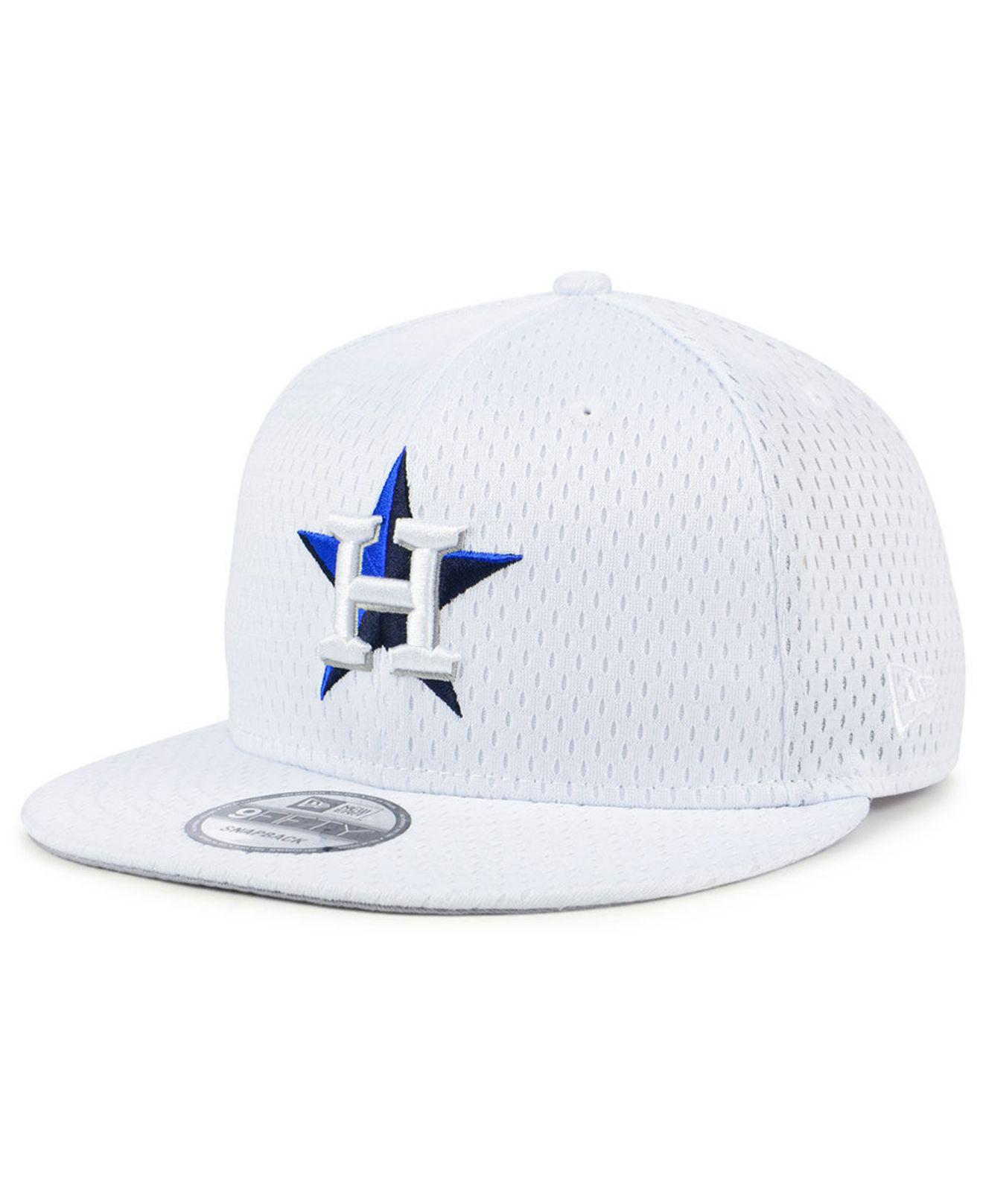 detailed look 116e6 03145 KTZ. Men s White Houston Astros Batting Practice Mesh 9fifty Snapback Cap