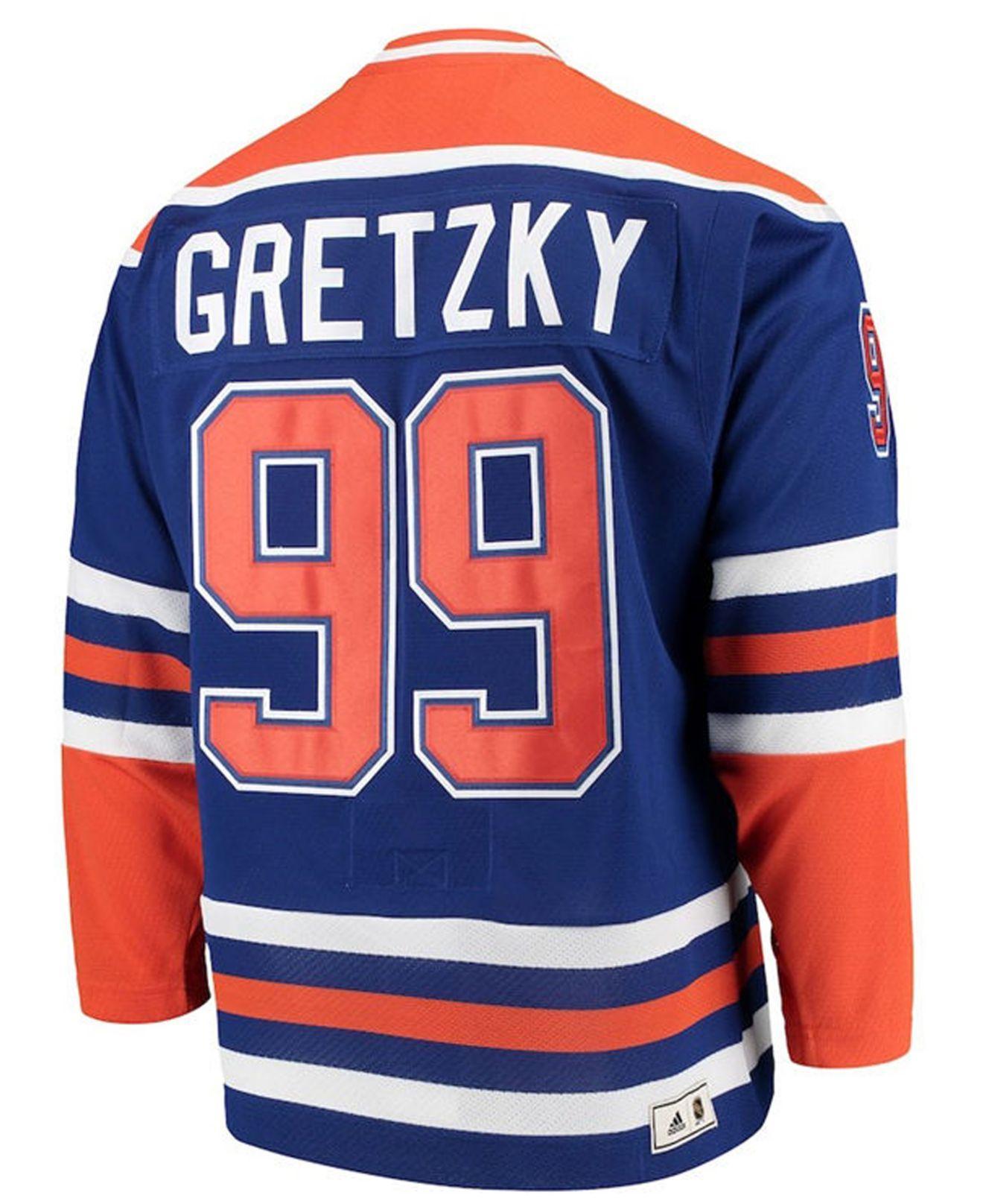 online store 92e93 efc02 Men's Blue Wayne Gretzky Edmonton Oilers Heroes Of Hockey Classic Jersey