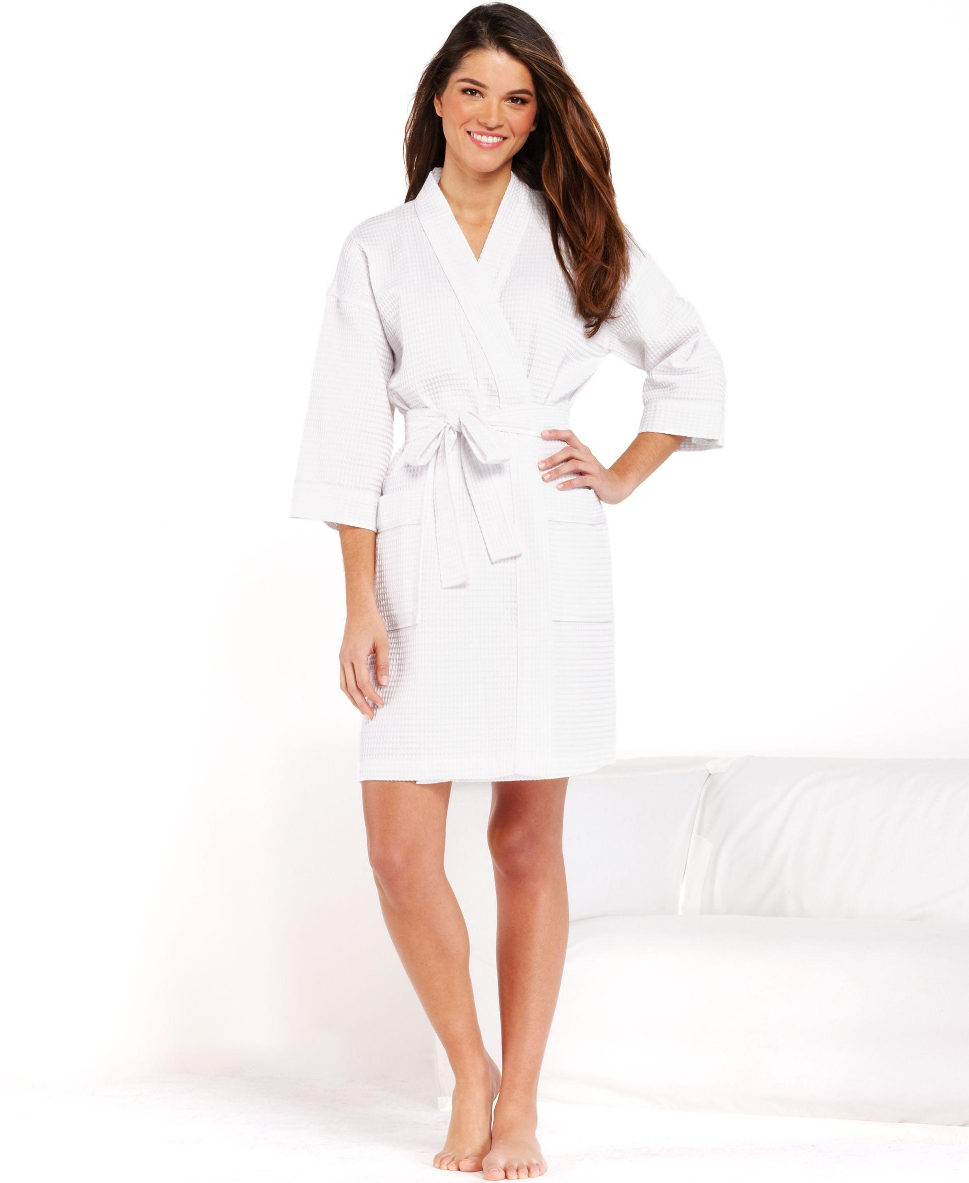 Charter Club Short Spa Waffle Robe, Only At Macy's In
