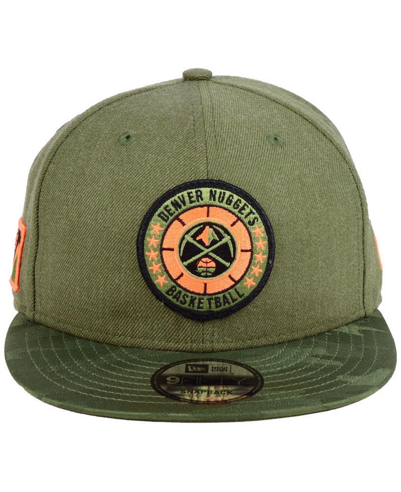 hot sale online ab68a 5f00e ... low price lyst ktz denver nuggets tip off 9fifty snapback cap in green  for men 04761