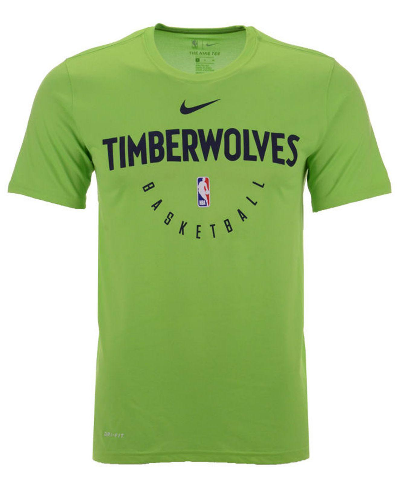 00912a3dfd7 Lyst - Nike Minnesota Timberwolves Practice Essential T-shirt in ...