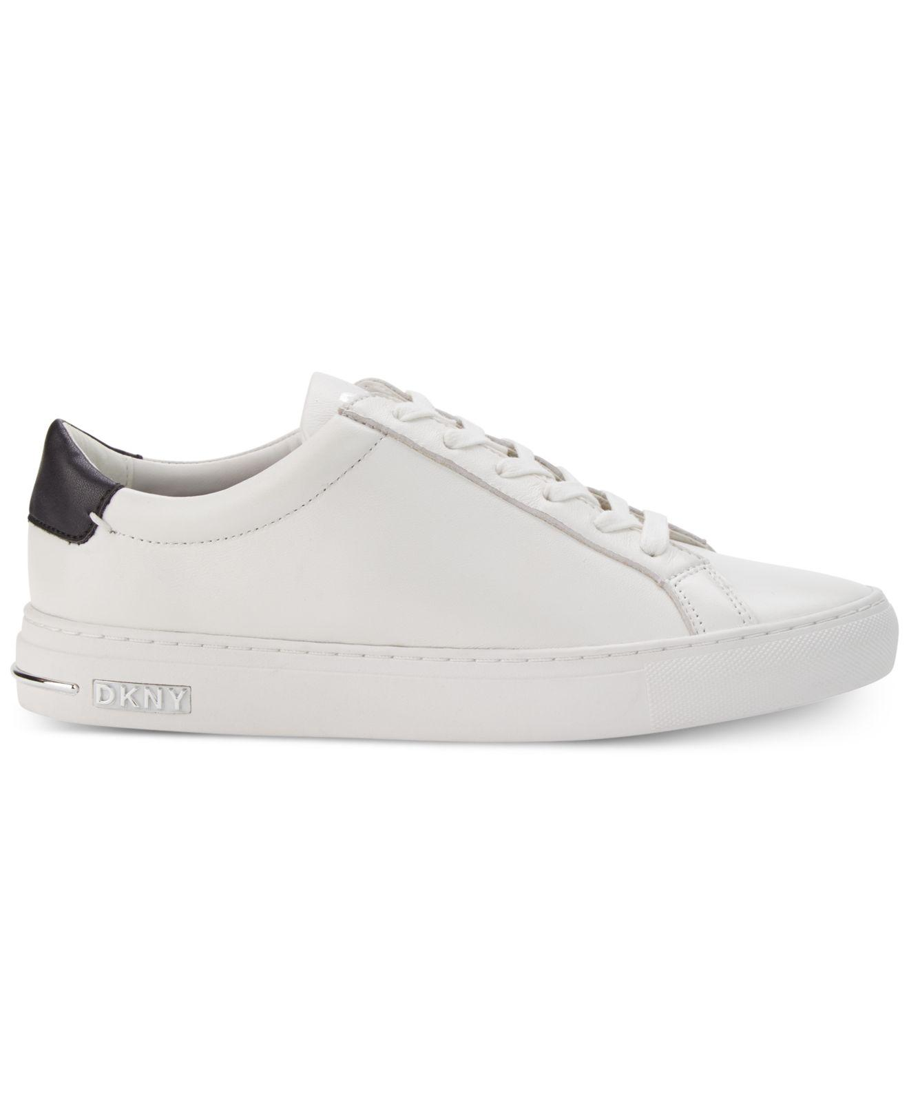 info for uk cheap sale aliexpress DKNY Fur Court Sneakers, Created For Macy's in White - Lyst
