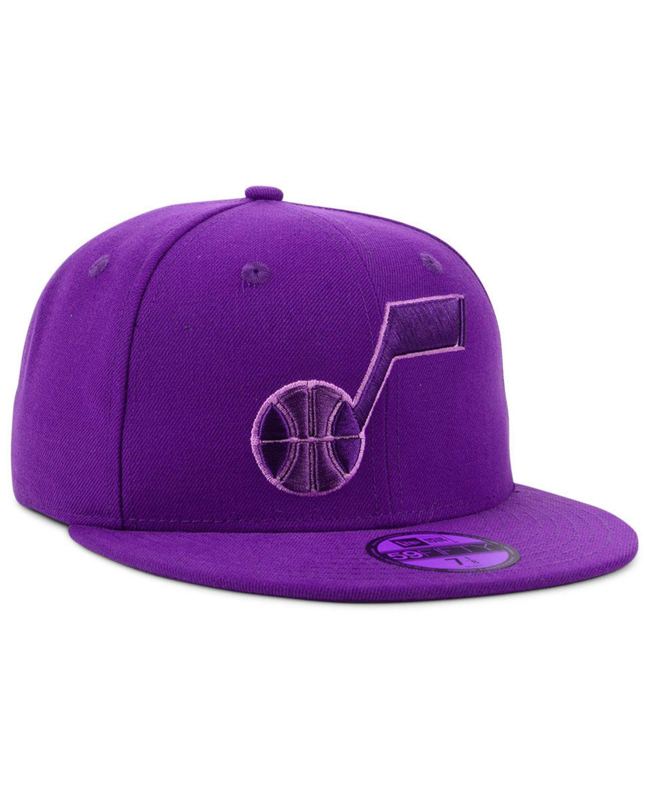 low cost 79e4c a9ddb KTZ - Purple Utah Jazz Color Prism Pack 59fifty Fitted Cap for Men - Lyst.  View fullscreen