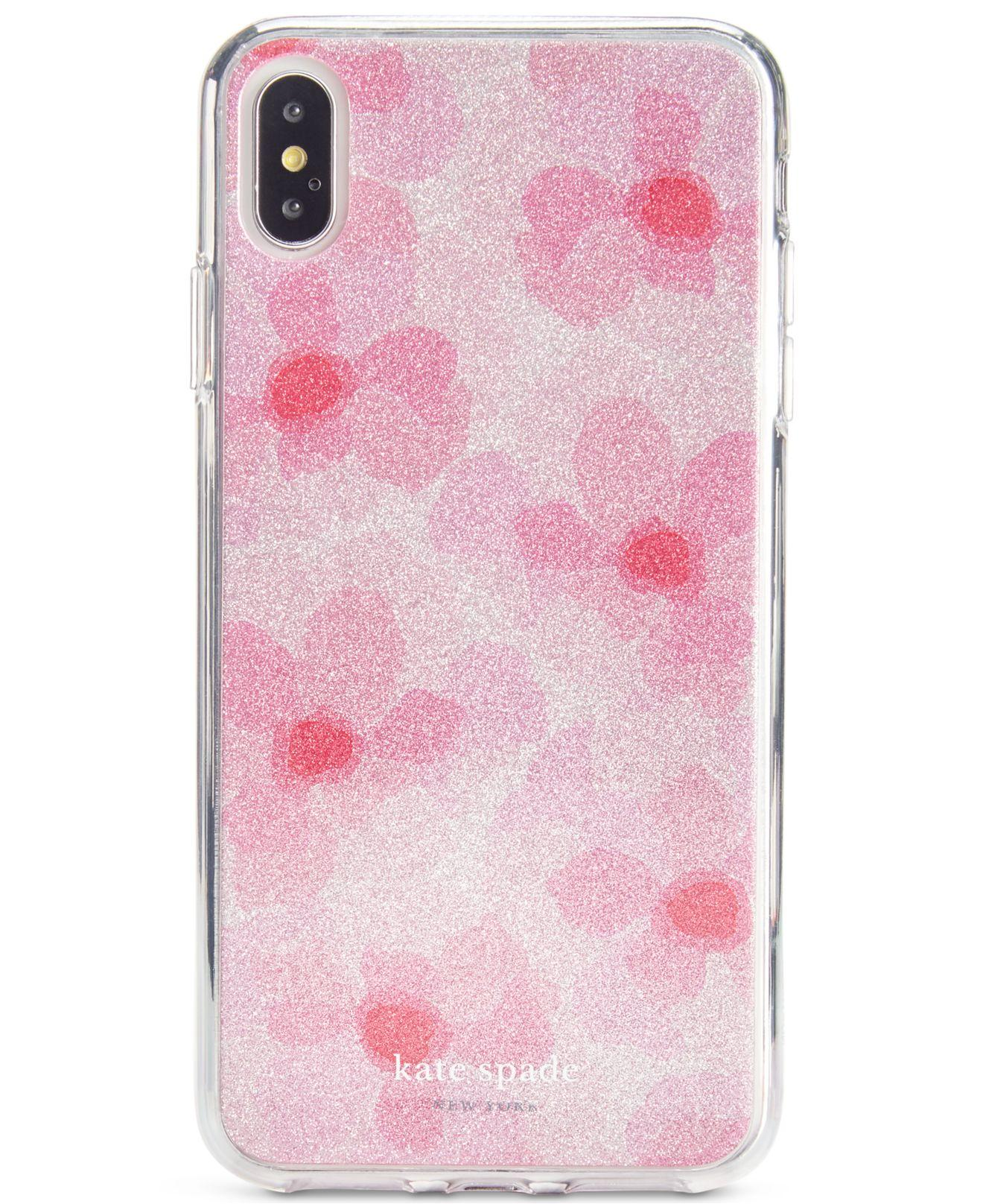 Kate Spade Glitter Abstract Peony Iphone Xs Max Case In