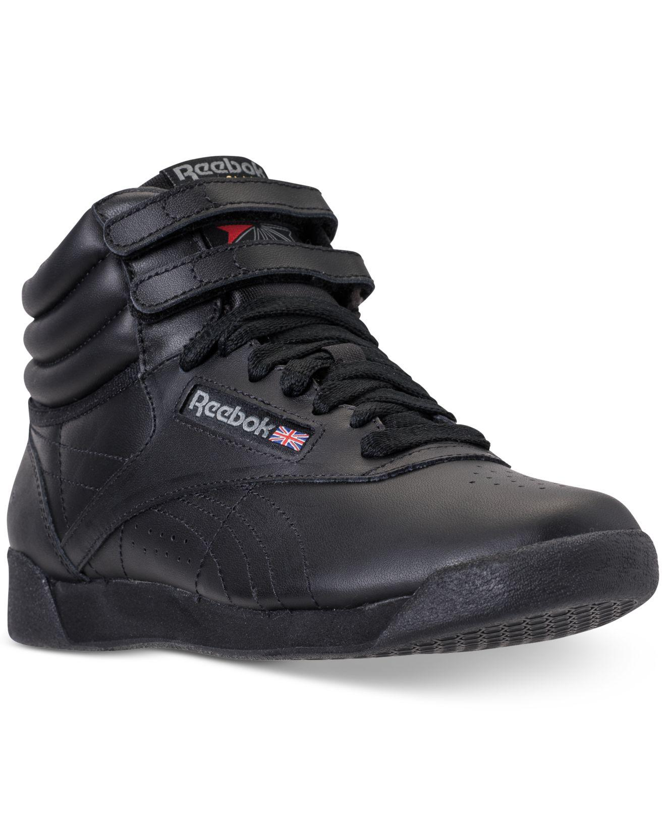 892fd3814f Women's Black Freestyle High Top Casual Sneakers From Finish Line