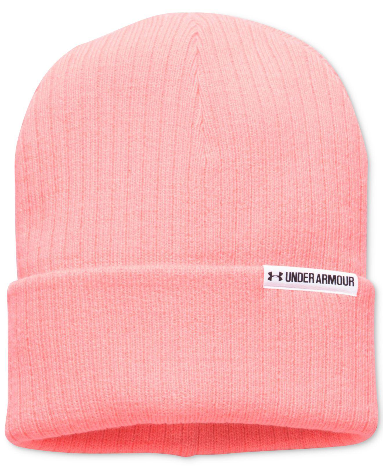 bed8b896576 ... spain lyst under armour boyfriend cuff beanie in pink 7a97b fbe77