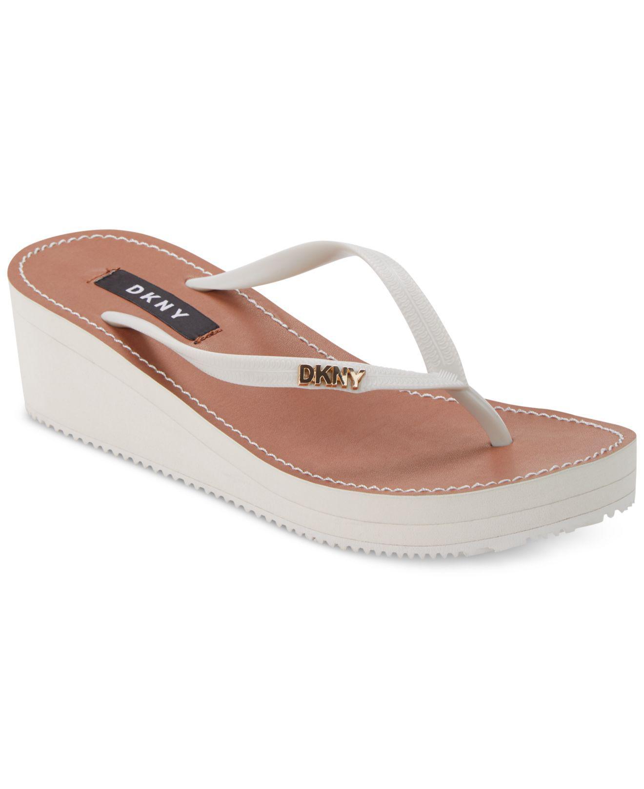 106cc1dbeee5 Lyst - DKNY Mar Wedge Sandals
