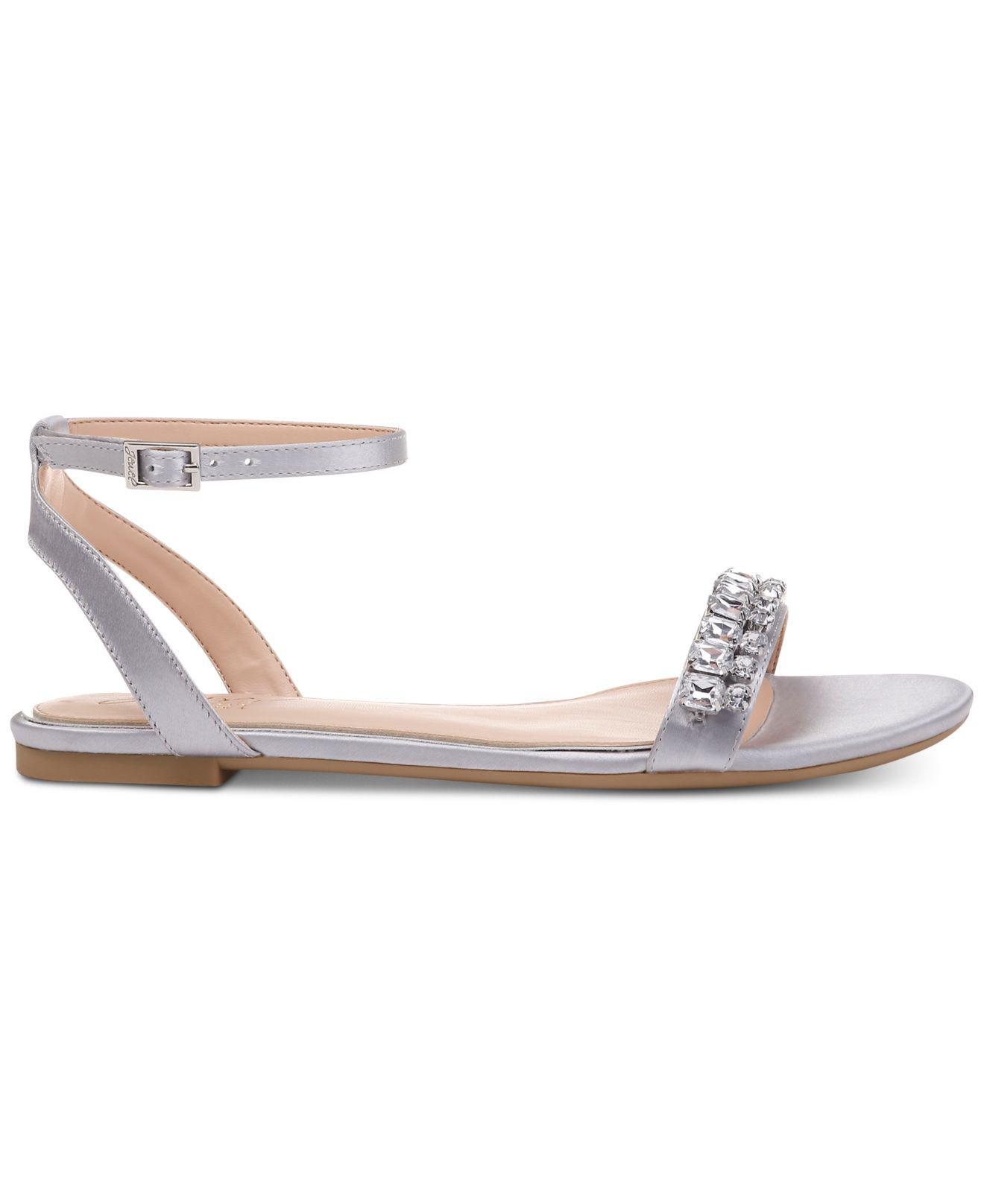 94930e776ea3 Lyst - Badgley Mischka Dalinda Flat Evening Sandals in Metallic