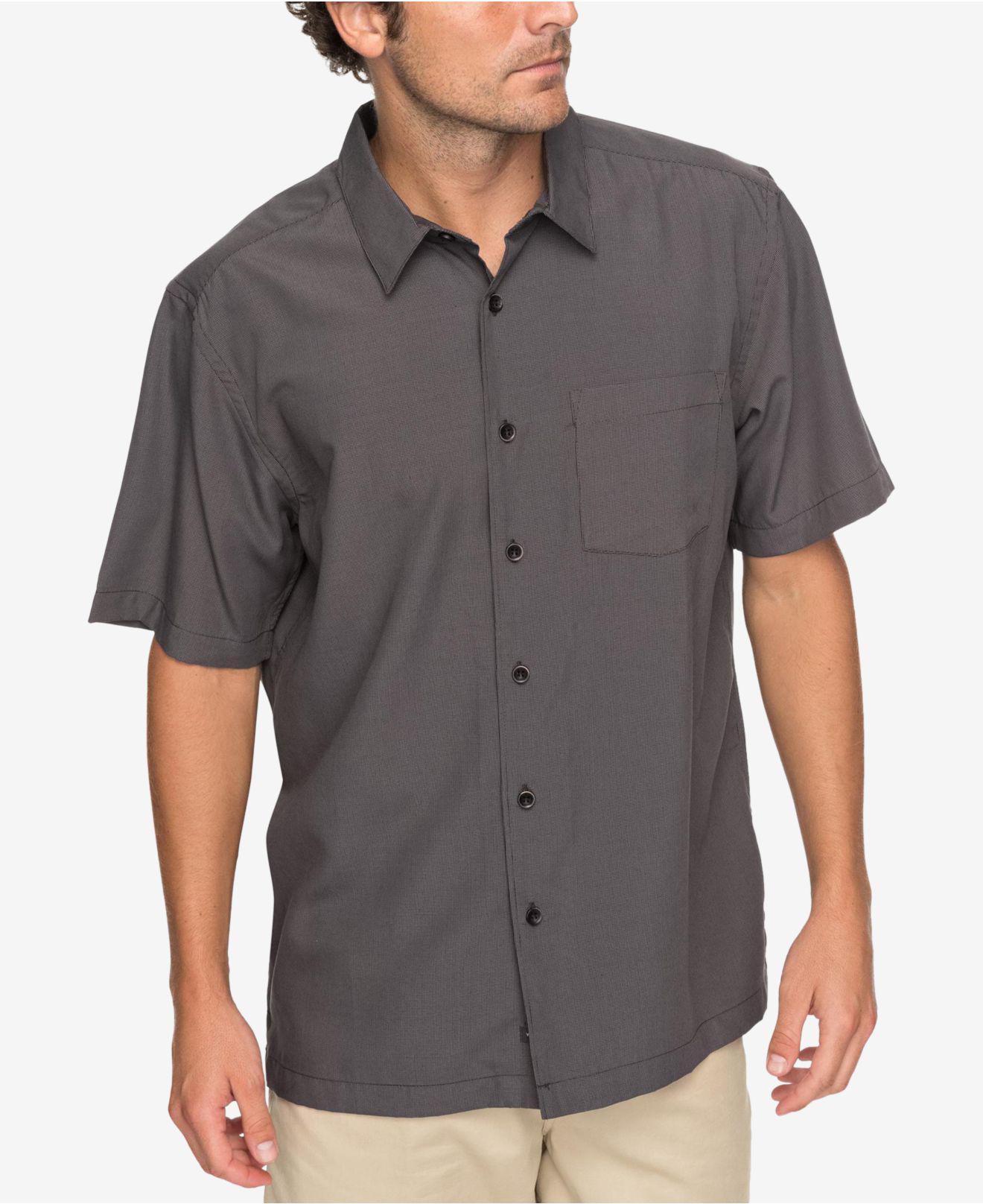 109b260ffe8a Lyst - Quiksilver Waterman Cane Island Shirt in Black for Men - Save 40%