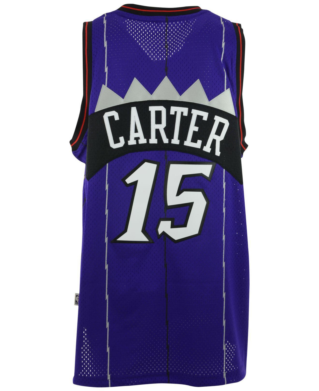 best sneakers 544b8 6c8bc Purple Men's Vince Carter Toronto Raptors Swingman Jersey