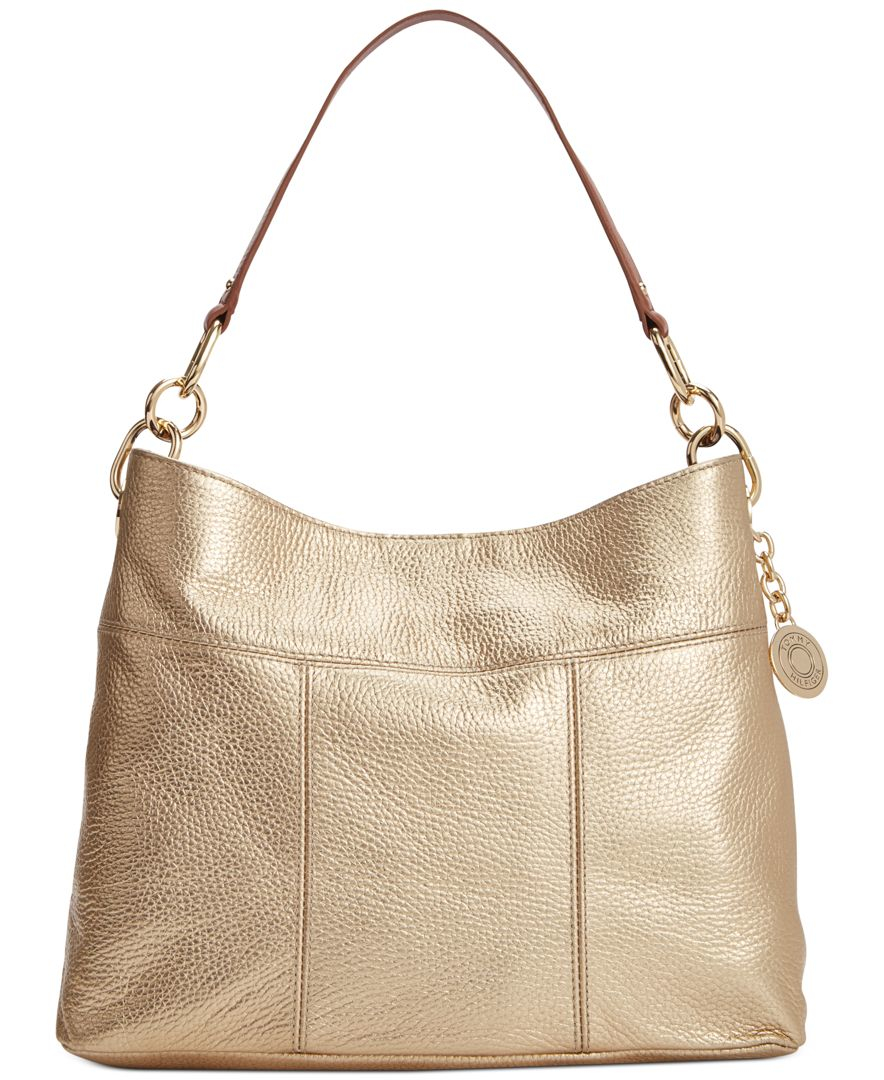 896ec180 Tommy Hilfiger Th Signature Leather Small Hobo in Metallic - Lyst