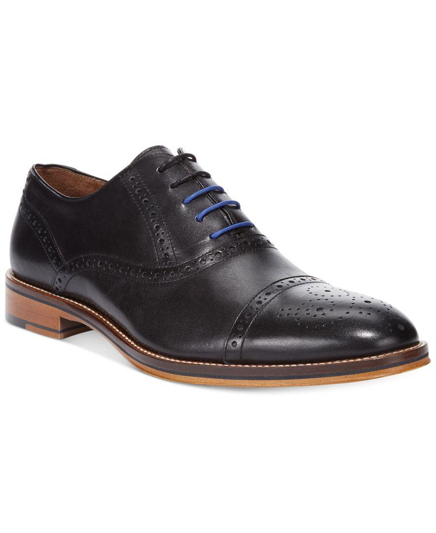 Johnston Amp Murphy Men S Conard Cap Toe Oxford In Black For