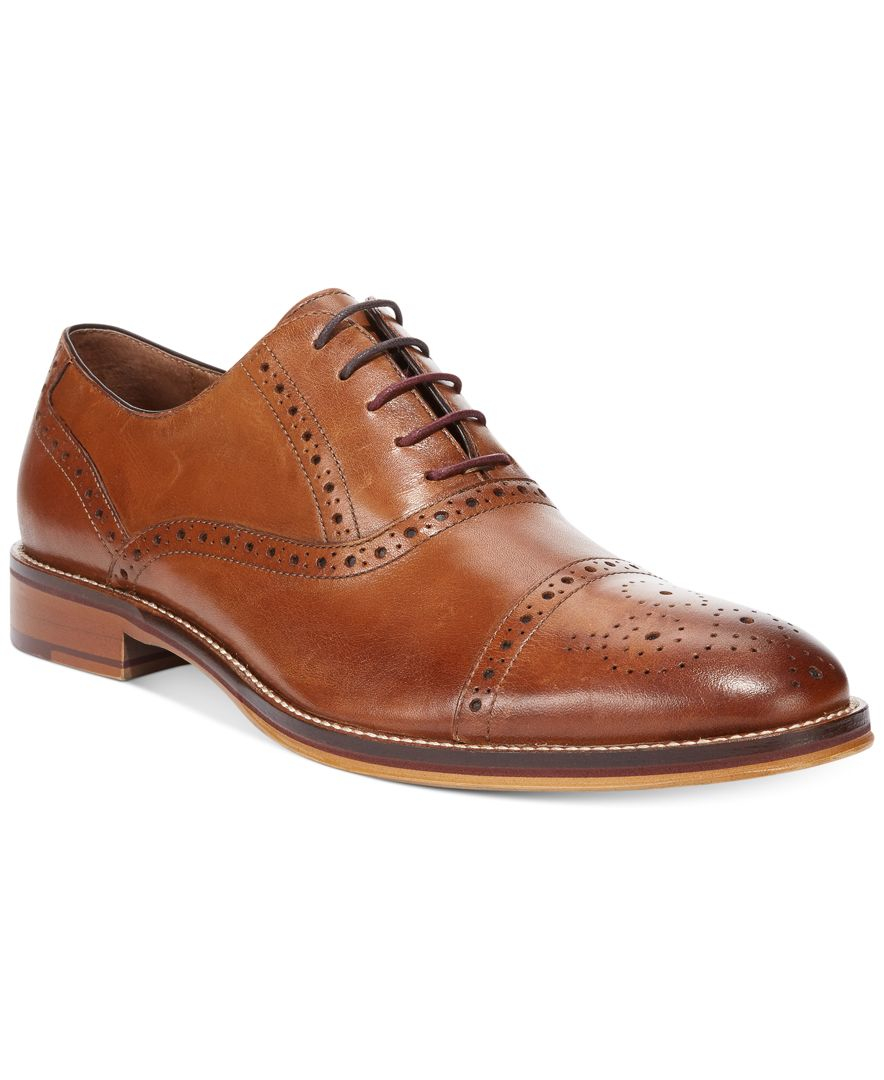 Johnston Amp Murphy Men S Conard Cap Toe Oxfords In Brown