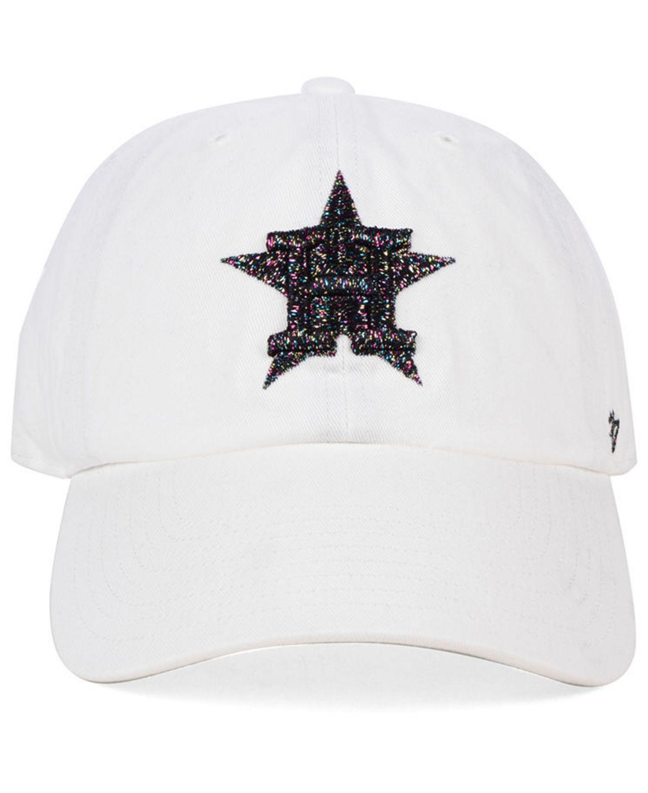 55c9c5e514f017 Lyst - 47 Brand Houston Astros Galactic Clean Up Cap in White for Men