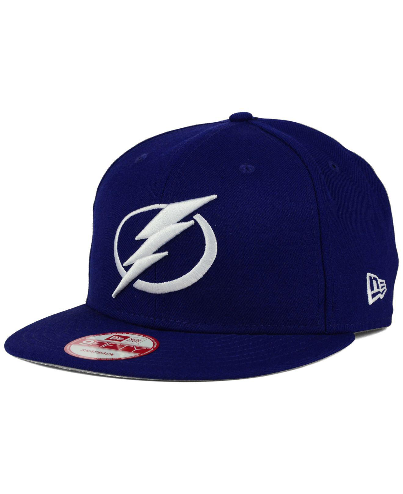official photos a414d 64fee KTZ Tampa Bay Lightning All Day 9fifty Snapback Cap in Blue for Men ...