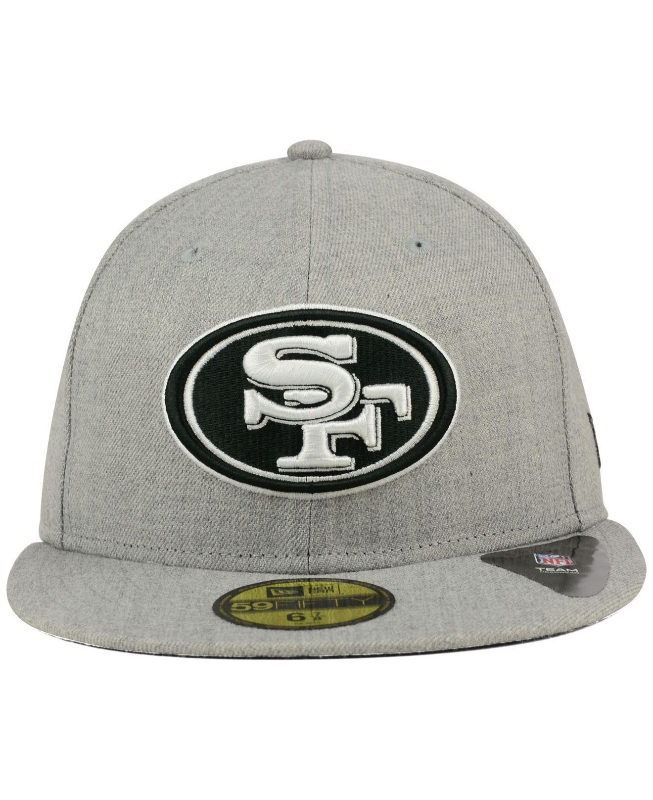 Lyst - KTZ San Francisco 49ers Heather Black White 59fifty Cap in Gray for  Men 7e680c70d