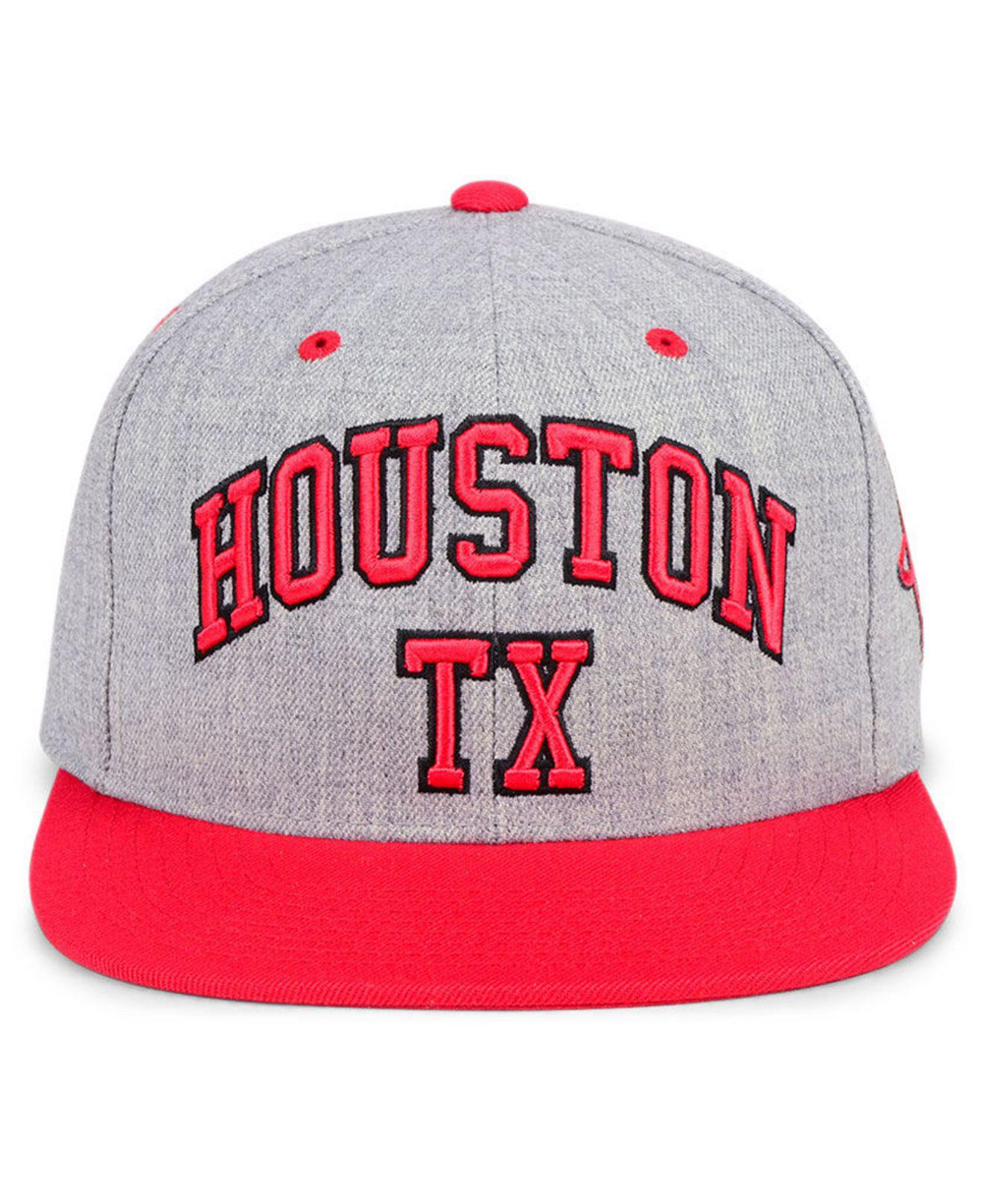 the best attitude f3c4f 56c64 ... coupon lyst mitchell ness houston rockets side panel cropped snapback  1f666 b67a0