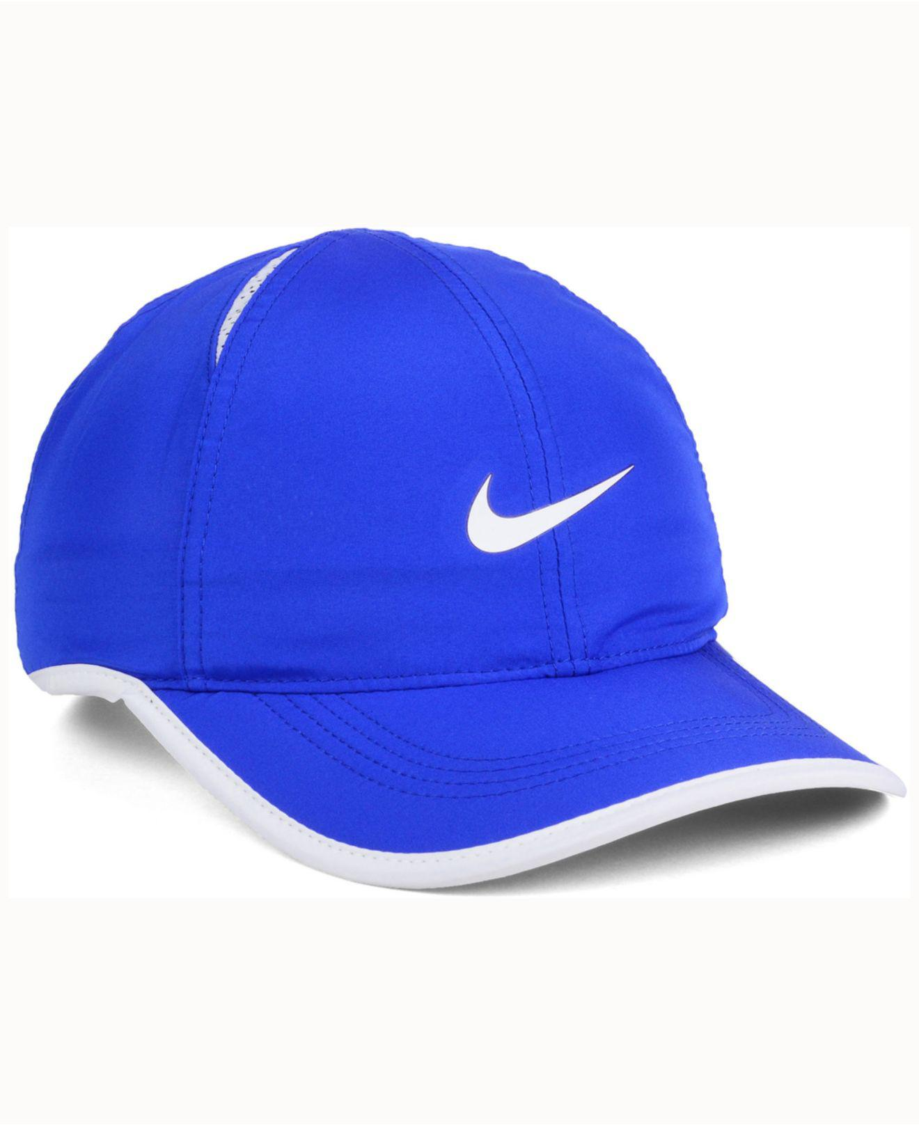 huge discount a6b39 ff1d6 ... royal heritage 86 wordmark swoosh adjustable hat 715a2 290b9  spain  lyst nike duke blue devils featherlight cap in blue for men 8cb3e 7a75c