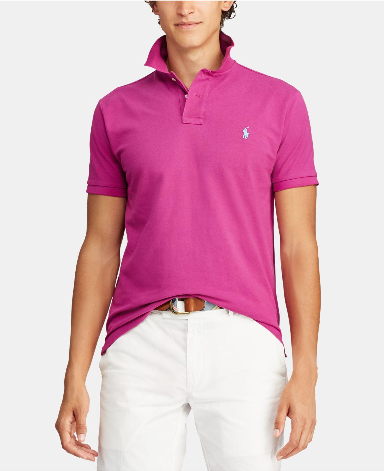 94c9f86dc3ab31 Lyst - Polo Ralph Lauren Big & Tall Classic Fit Cotton Mesh Polo in ...