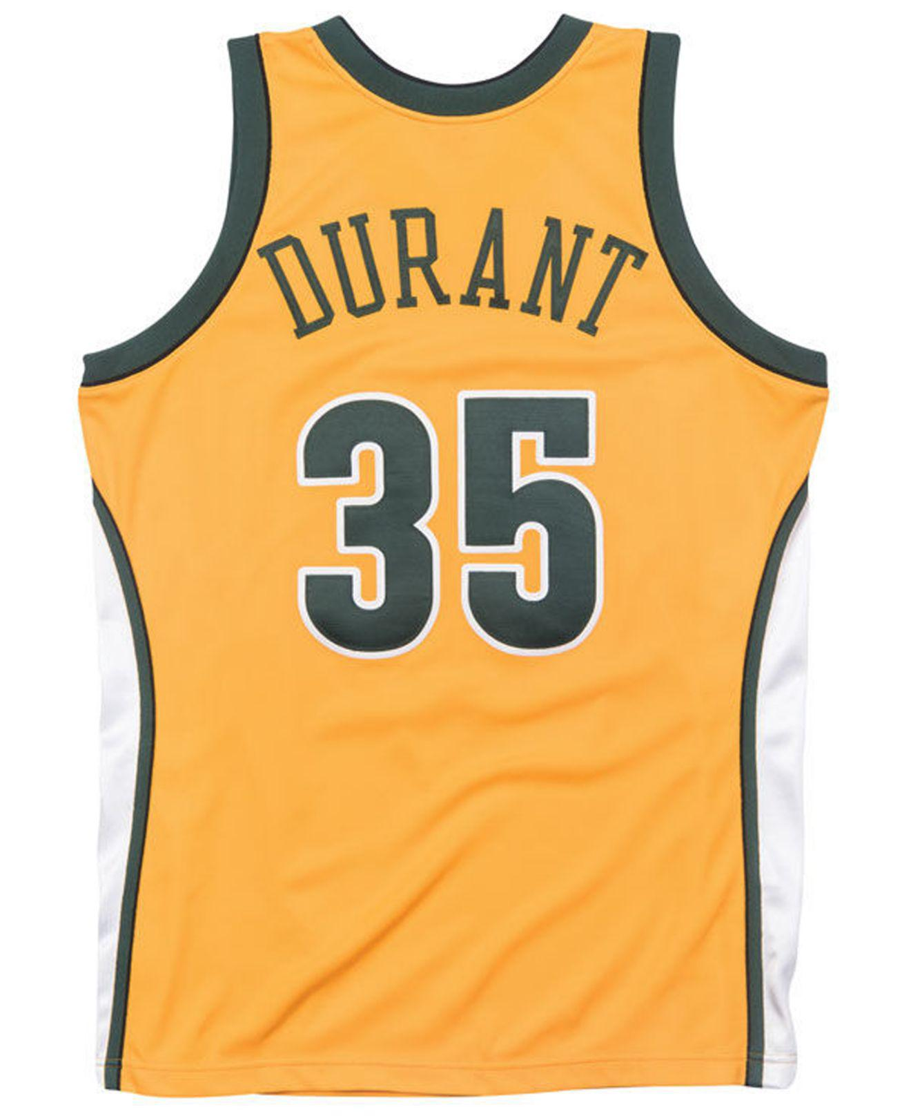 b429d425009 ... netherlands lyst mitchell ness kevin durant seattle supersonics  authentic jersey in metallic for men f4e9d aec4d