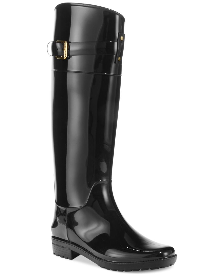 Fantastic Lauren Ralph Lauren Womens Rossalyn II Rain Boots $7900 The Rainy Weather Wont Matter At All Once You Slip These On The Rossalyn II Rain Boots By Lauren Ralph Lauren RALPH LAUREN COLLECTION Saddle Tumbled Selena