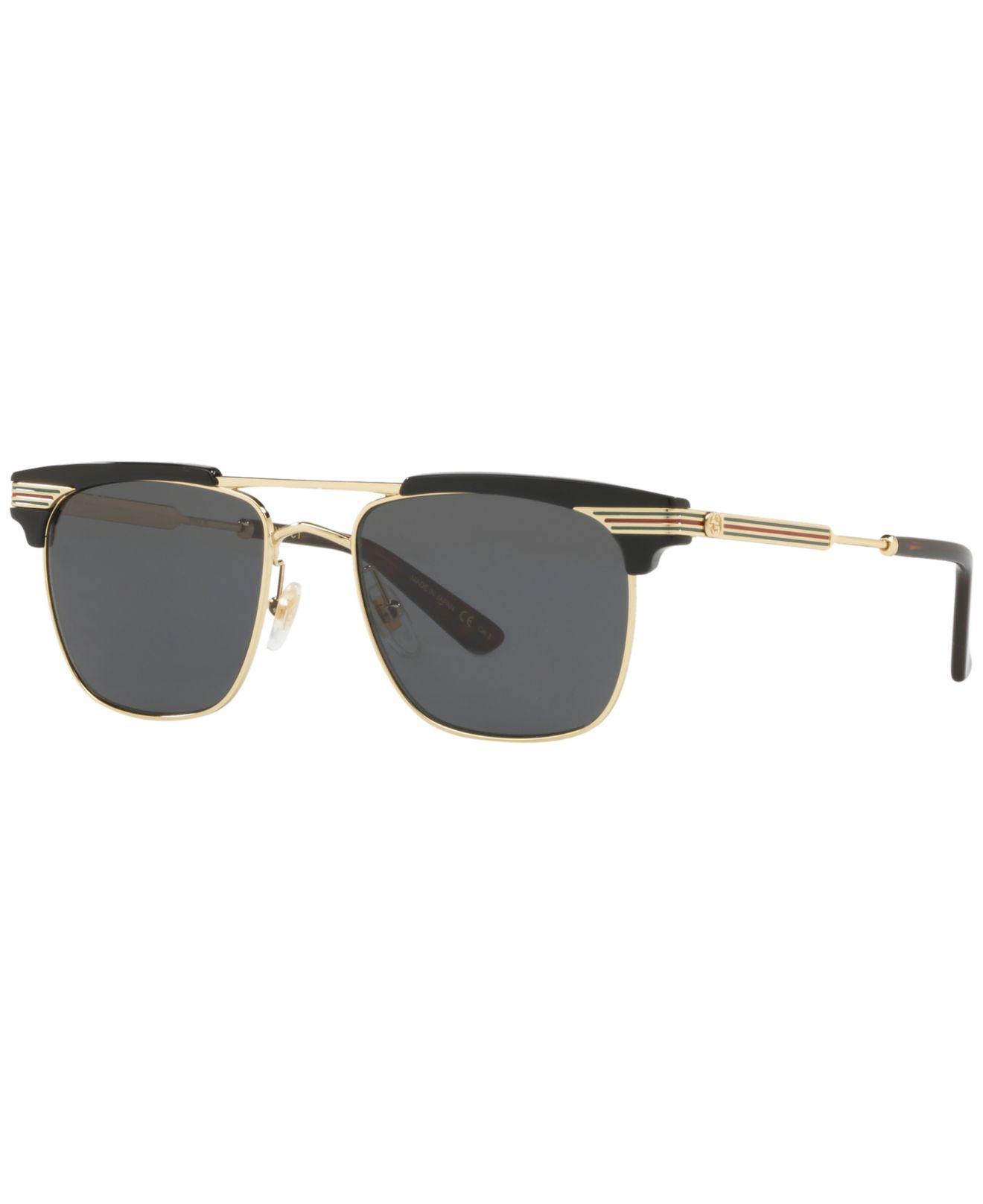 8786e66acf Gucci. Men s Gray Sunglasses ...