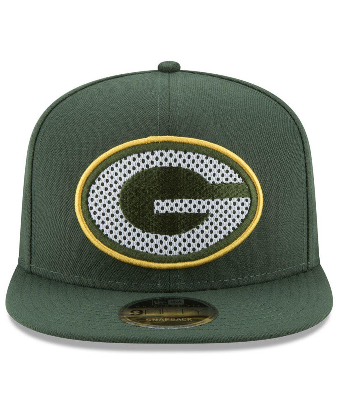 7885d845c Lyst - Ktz Green Bay Packers Meshed Mix 9fifty Snapback Cap in Green for Men
