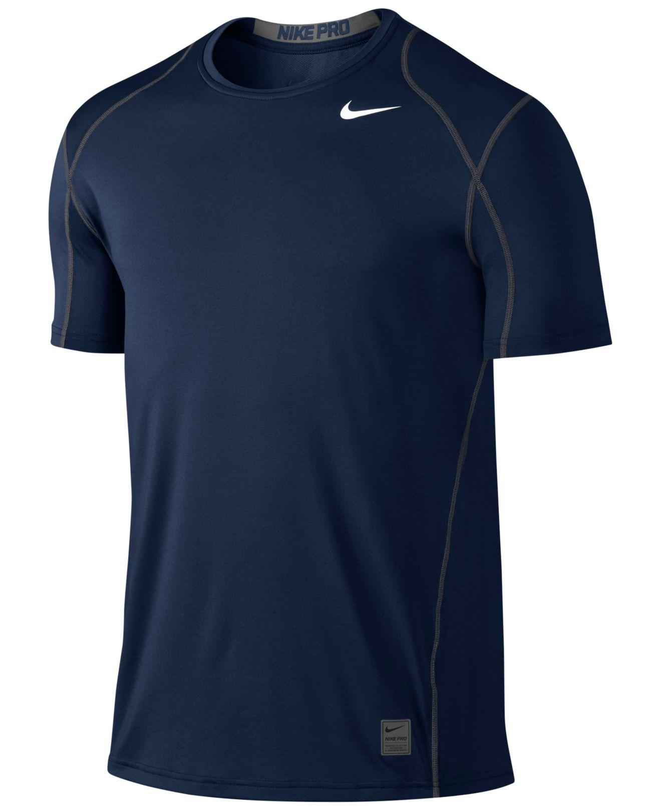 Nike Pro Cool Fitted Dri fit Shirt In Blue For Men Lyst