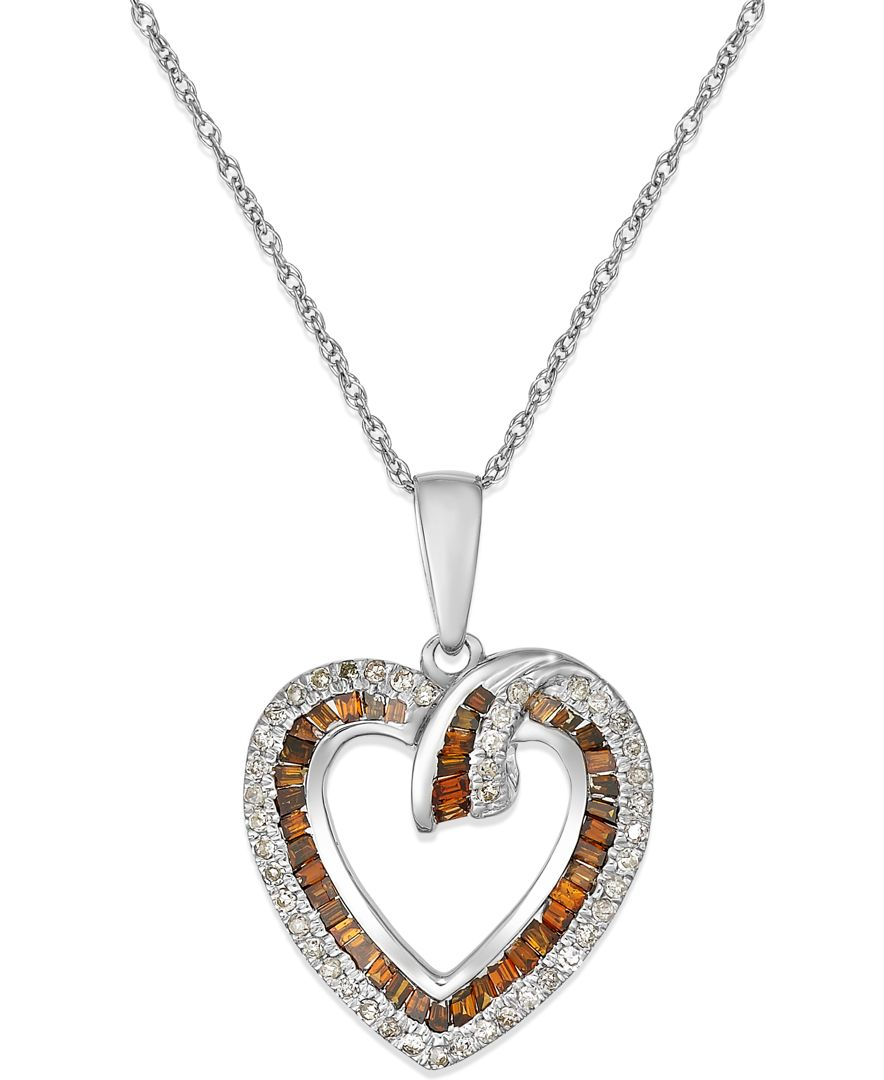 Macy's White And Red Diamond Heart Pendant Necklace (38. Rhodium Necklace. Sterling Silver. Cubic Zirconia Pendant. Peridot Rings. Rose Gold Bands. Bezel Set Diamond Bracelet. Gucci Watches. Simon G Bands