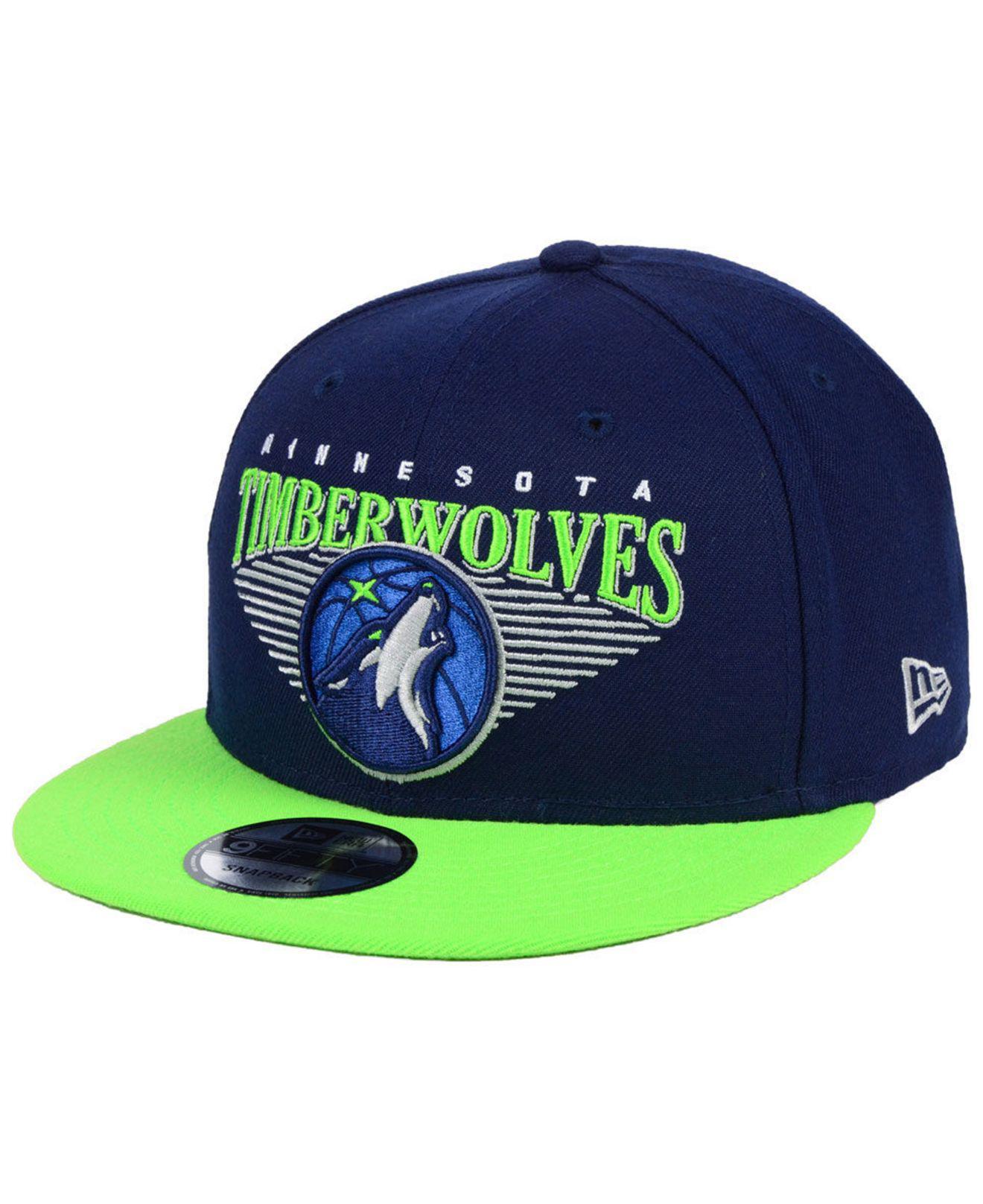 quality design 39676 0413d KTZ - Blue Minnesota Timberwolves Retro Triangle 9fifty Snapback Cap for  Men - Lyst. View fullscreen