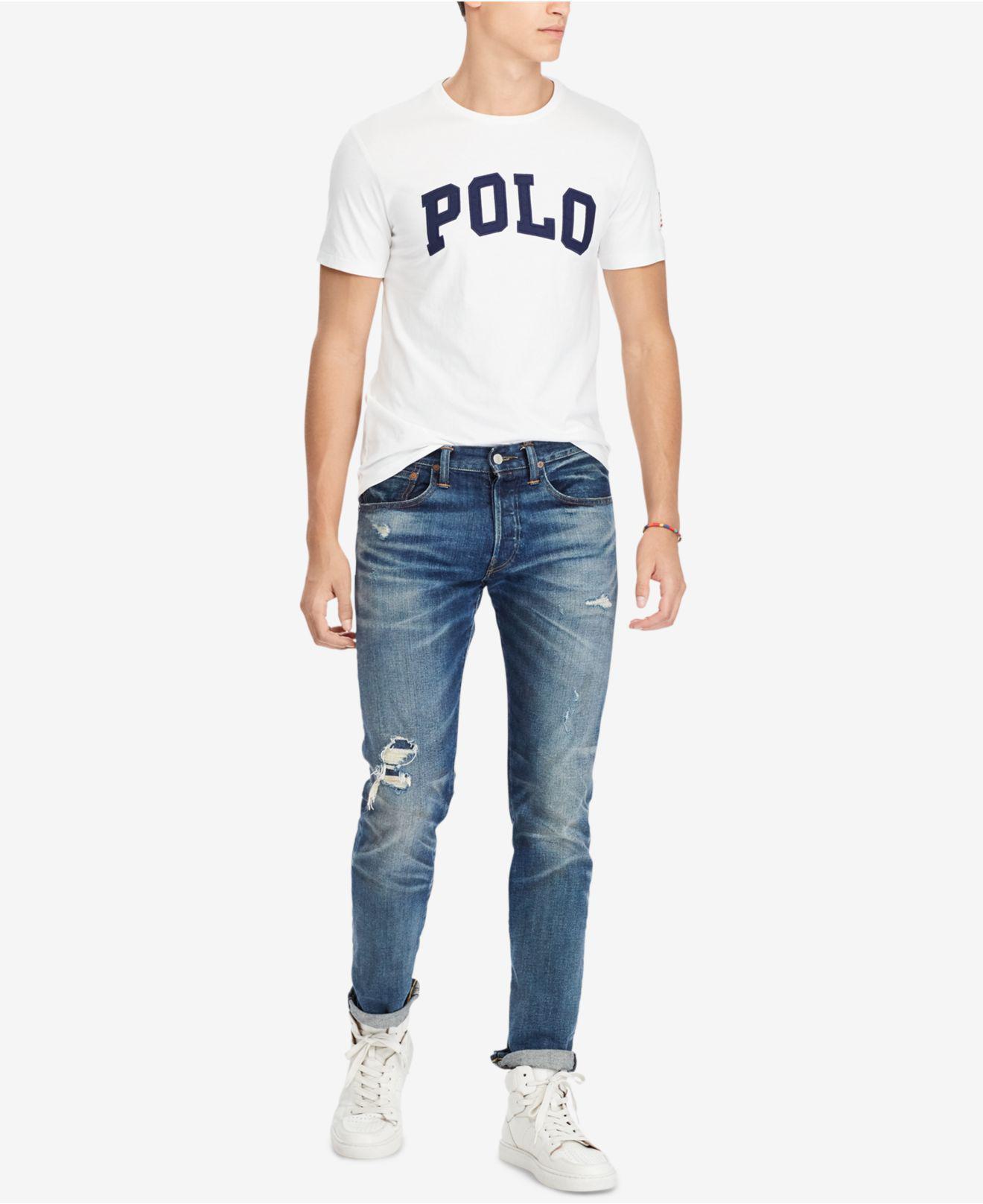 Men S Custom Slim Fit Logo Print T Shirt