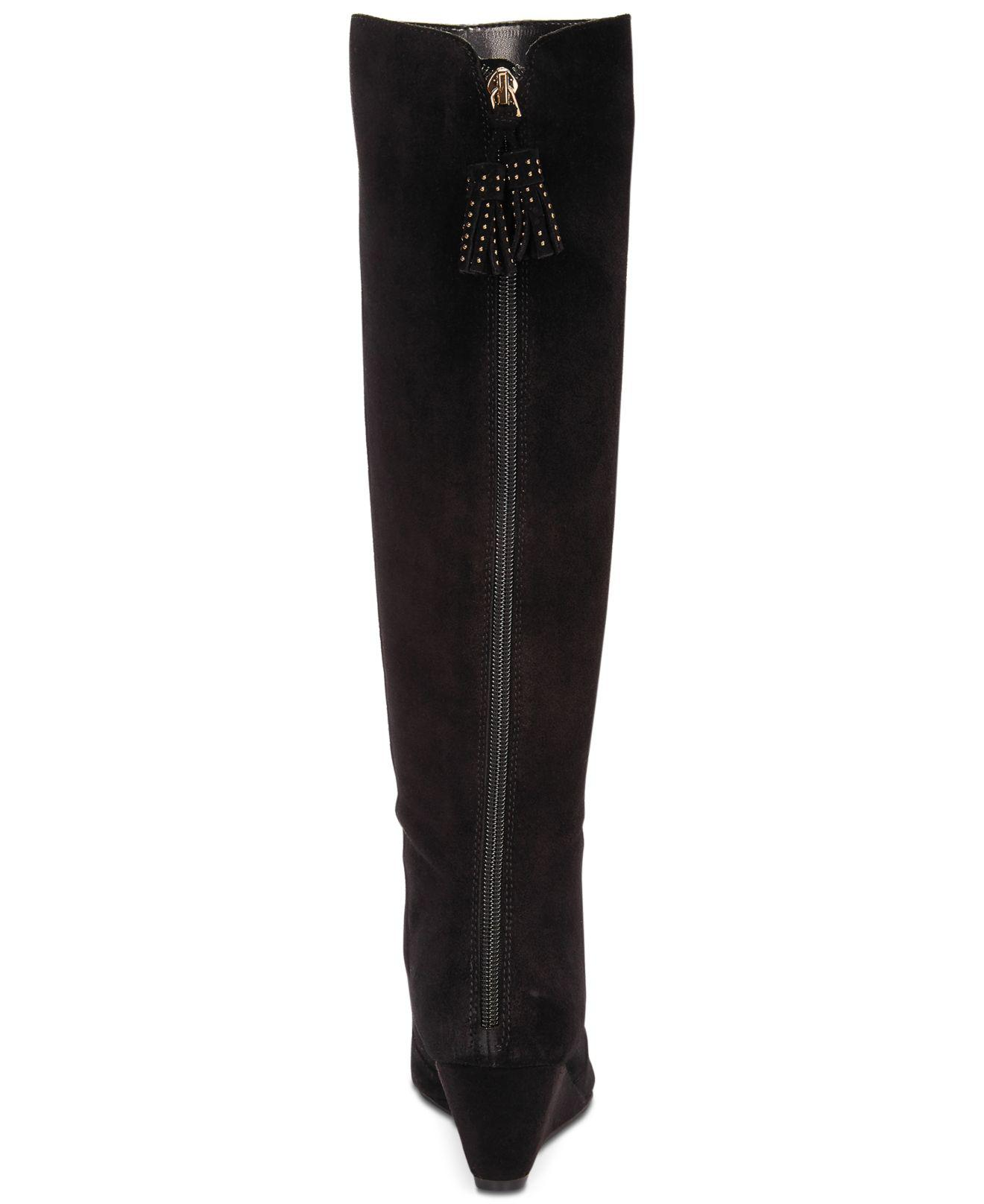d84dfadb1703 Lyst - Anne Klein Azriel Tall Boots in Black