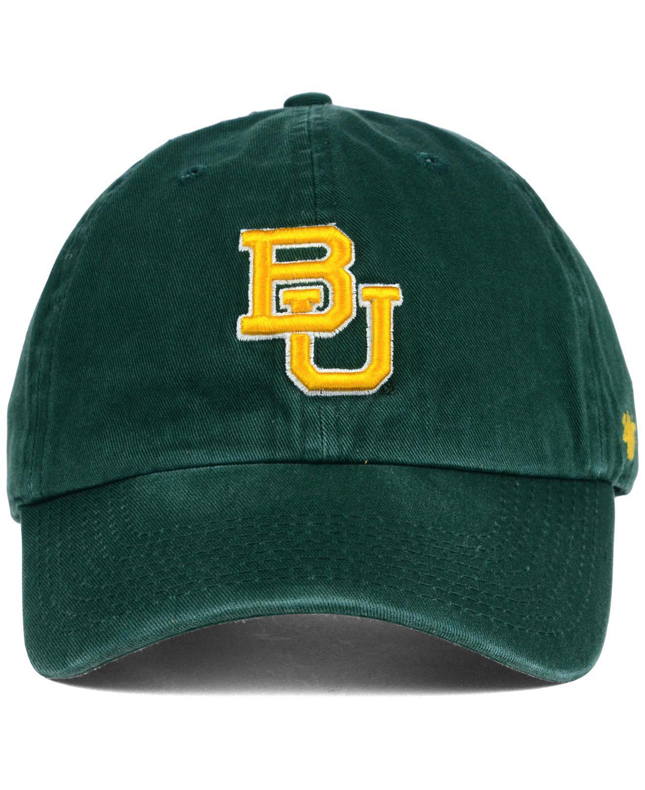 ... franchise green strap back hat cap 47 brand big 12 sic em bears 17608  752b5  best lyst 47 brand baylor bears clean up cap in green for men 42946  952f0 38620c2f8