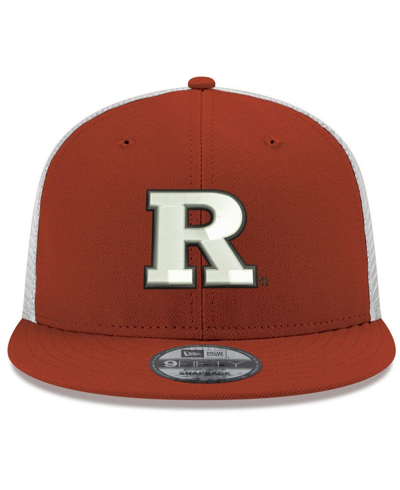best service 8fe55 9dab2 KTZ. Men s Red Rutgers Scarlet Knights Tc Meshback Snapback Cap