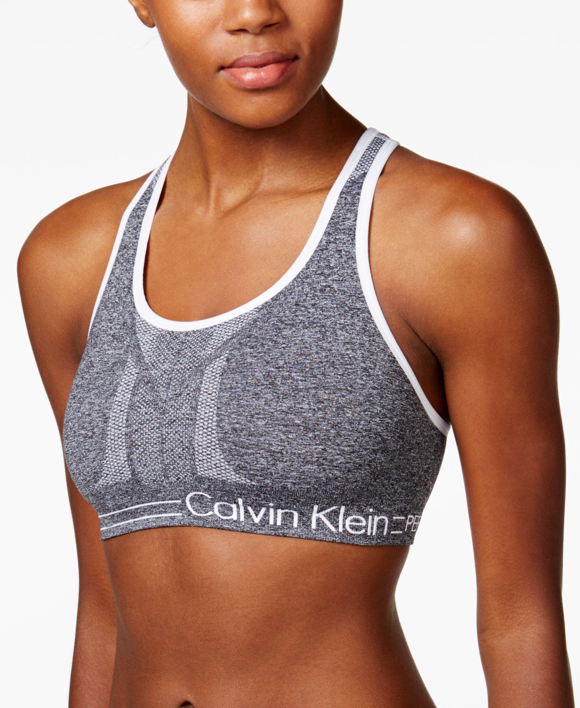 ff45b7d69a Lyst - Calvin Klein Ck Performance Reversible Crossback Mid-impact ...