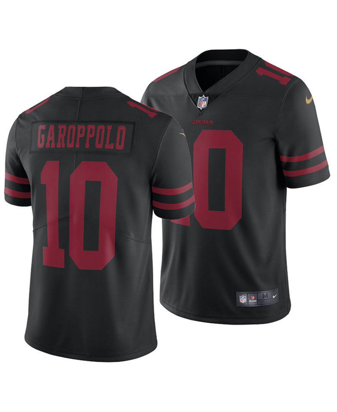 buy popular ccdb7 f17a0 Men's Black Jimmy Garoppolo San Francisco 49ers Vapor Untouchable Limited  Jersey