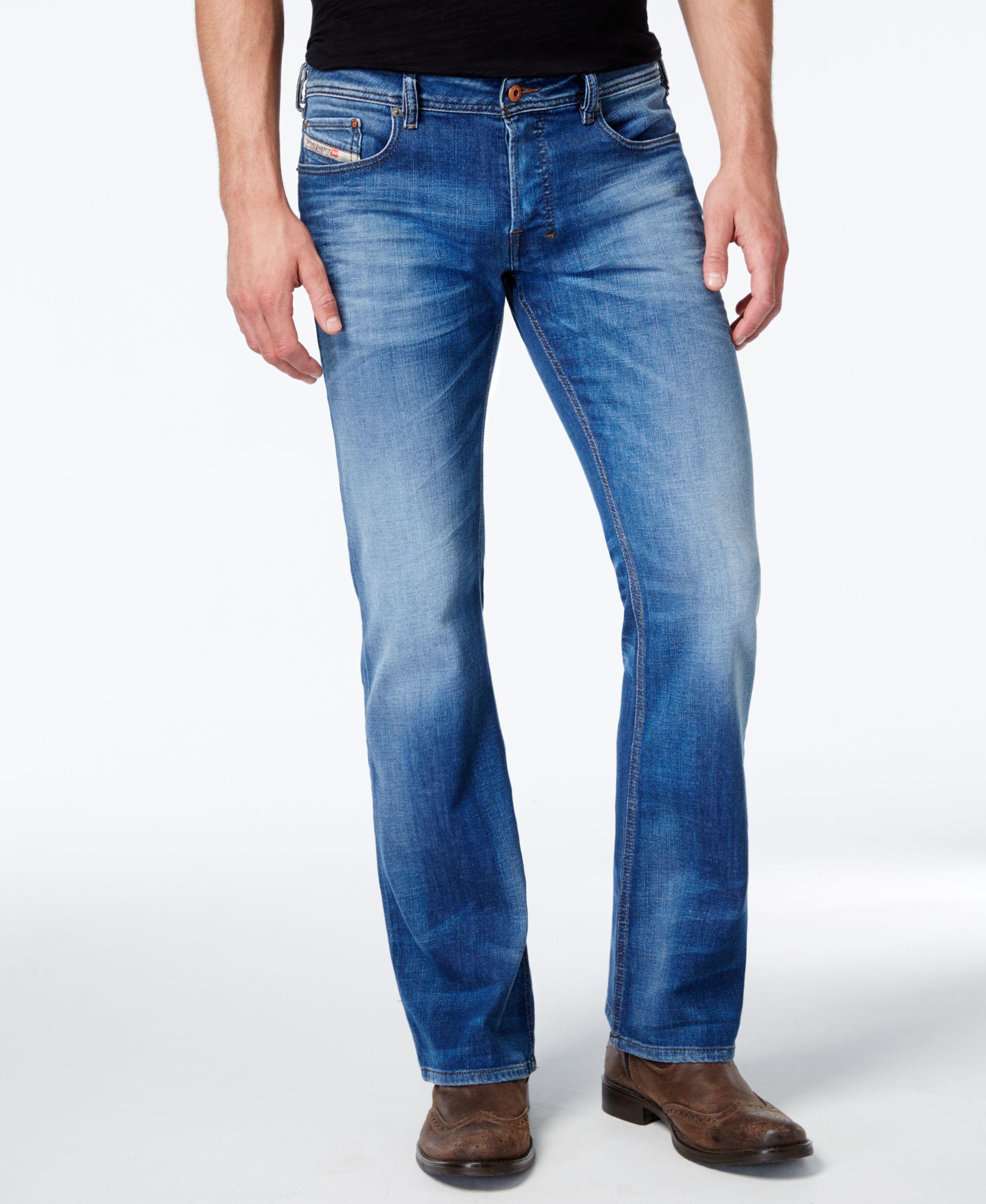 Diesel Men's Zathan 0831d Bootcut Jeans in Blue for Men | Lyst Diesel Jeans Men Bootcut